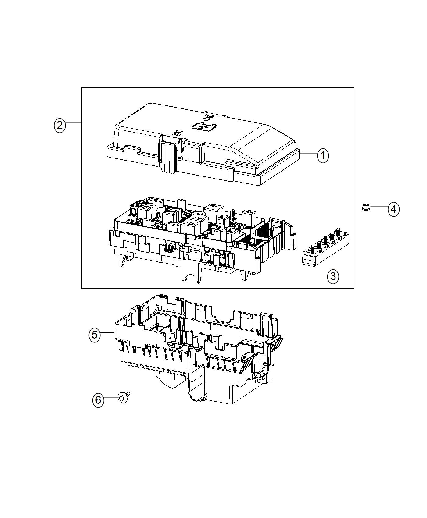 Chrysler 200 Fuse Array Z Case Export Us Canada
