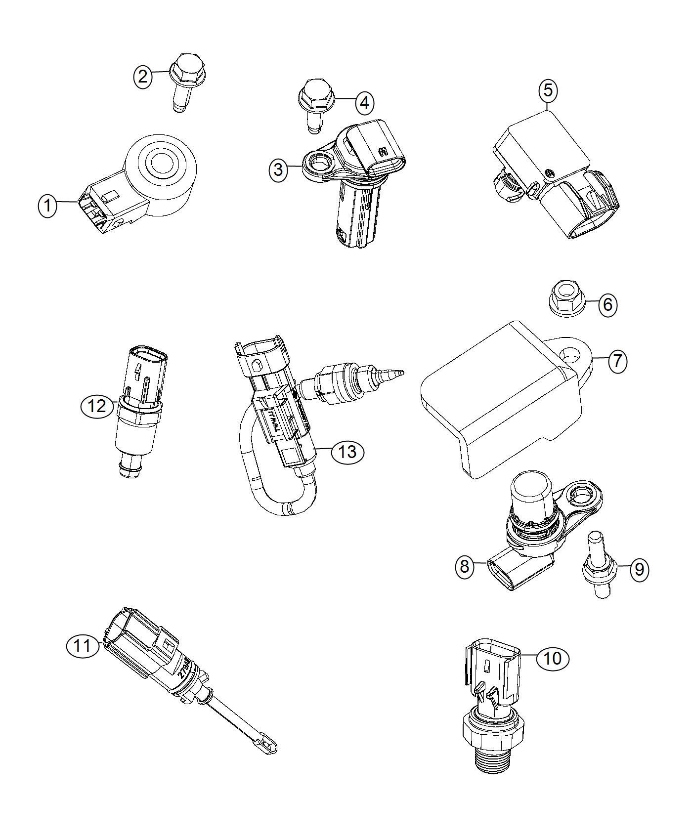 Chrysler 200 Sensor Crankshaft Position Sensors Engine