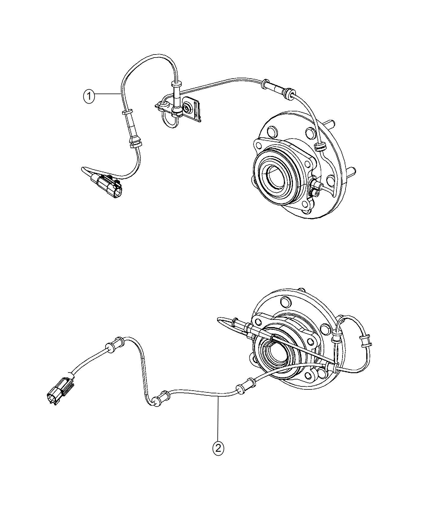 Chrysler 200 Sensor Wheel Speed Rear