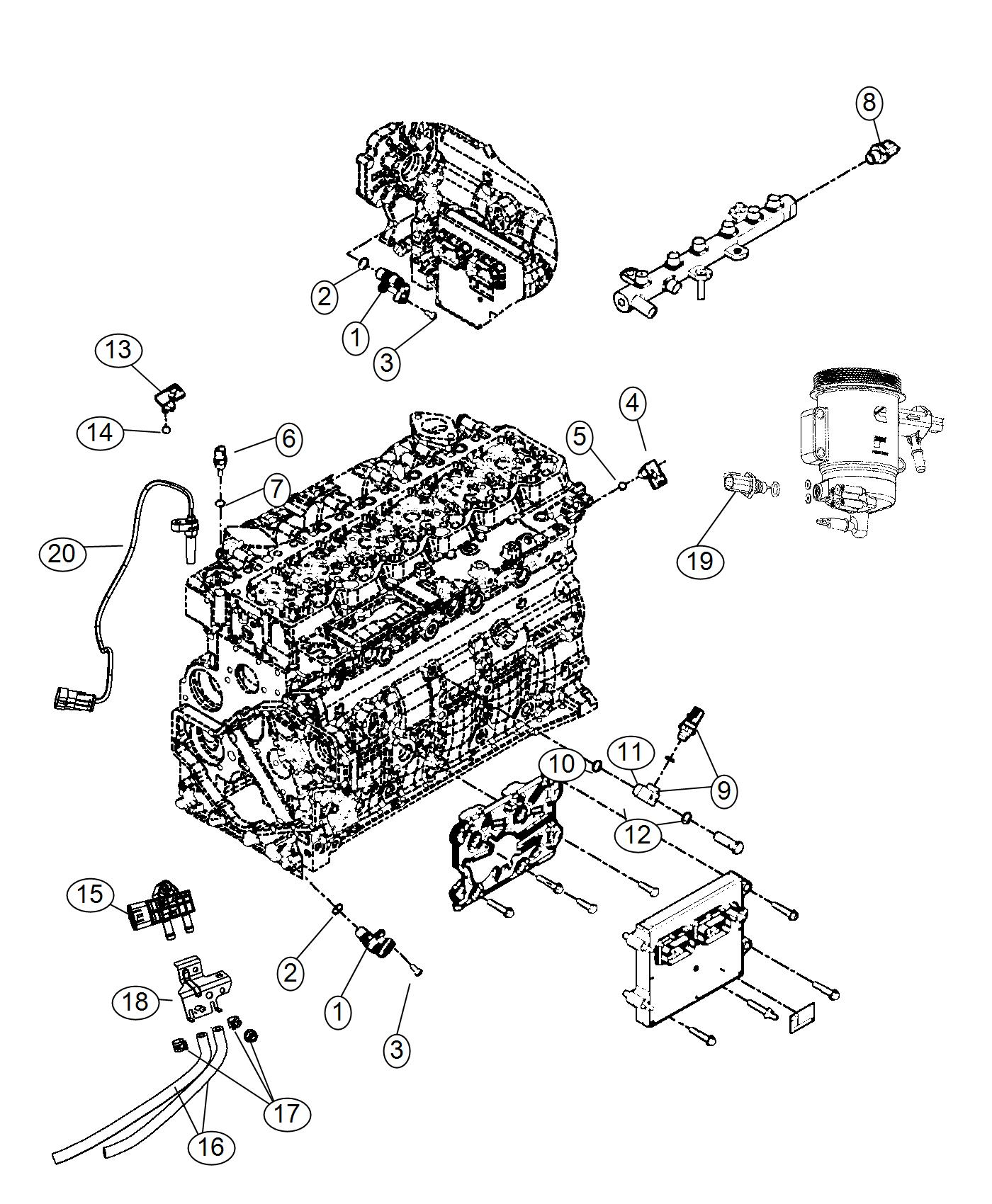 2011 Dodge Ram 5500 Sensor, speed sensor kit. Turbo speed