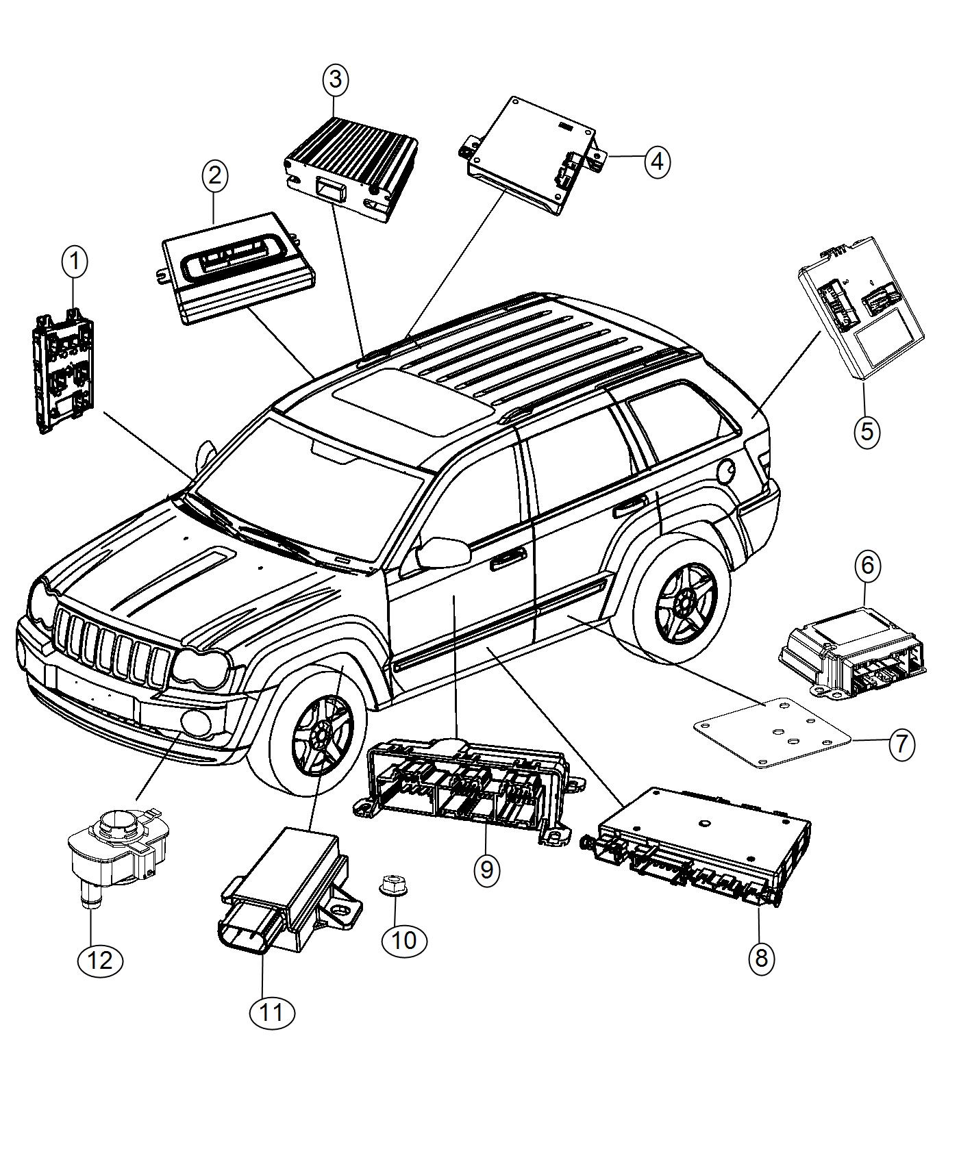 2016 Jeep Grand Cherokee Module. Body controller. Modules