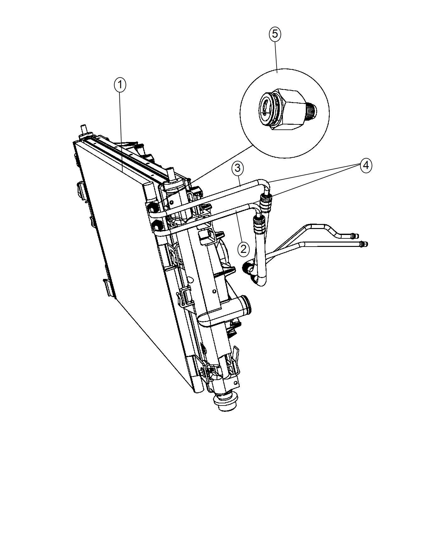 Chrysler Sebring Used For Hose And Tube Oil Cooler