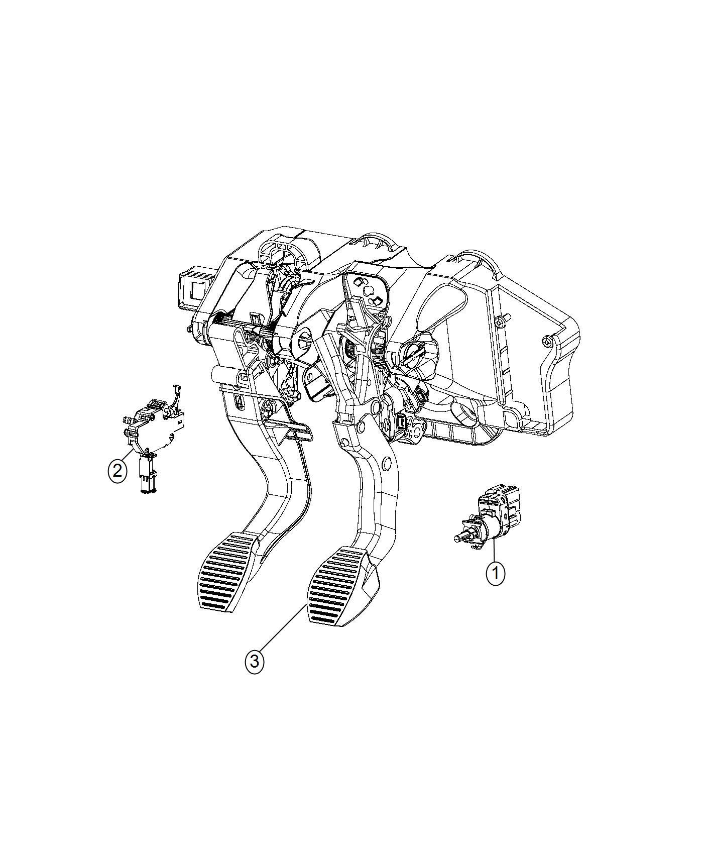 Fiat 500X Switch. Clutch starter interlock. Canada