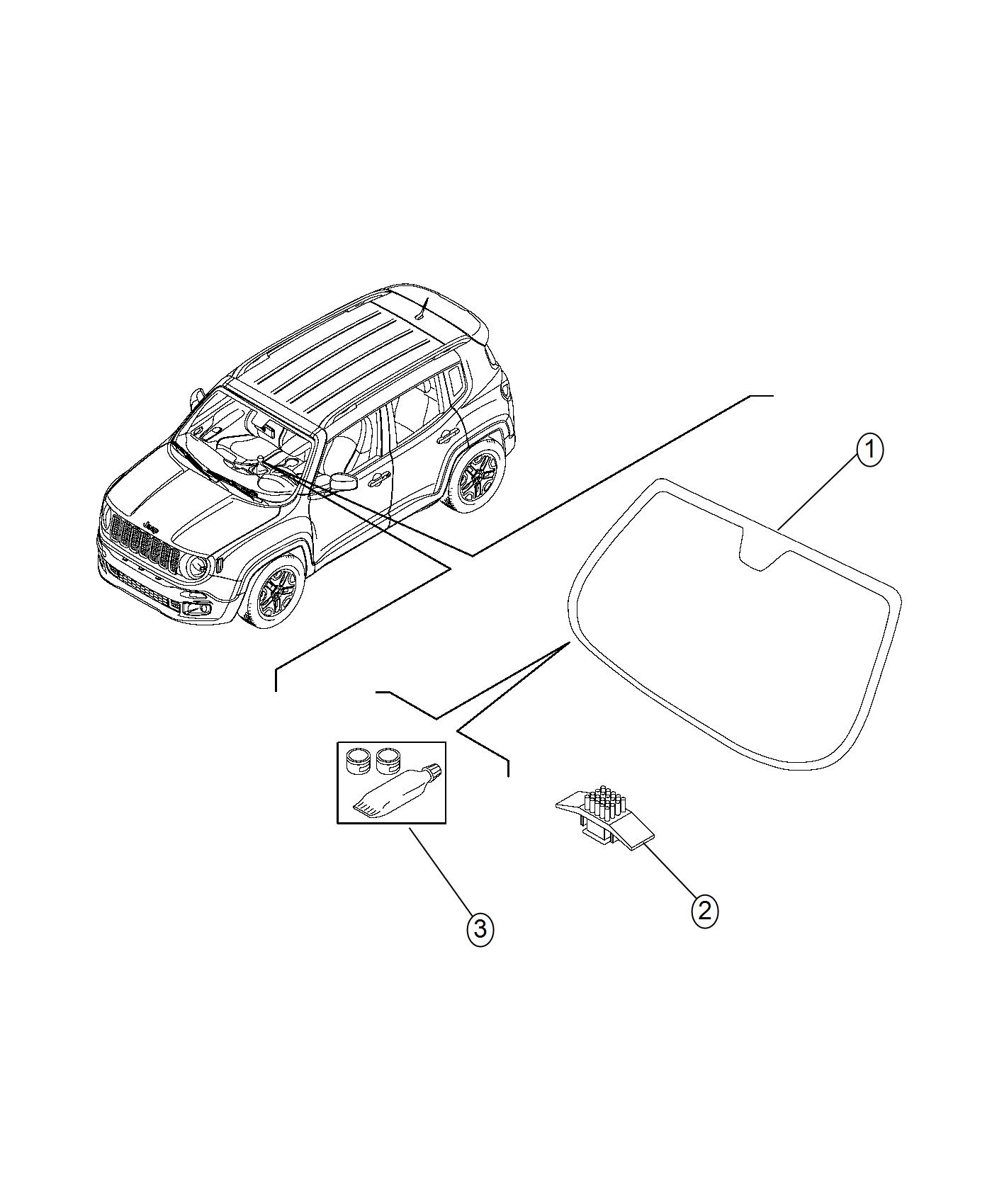 Jeep Renegade Windshield Export Automatic Atc Air