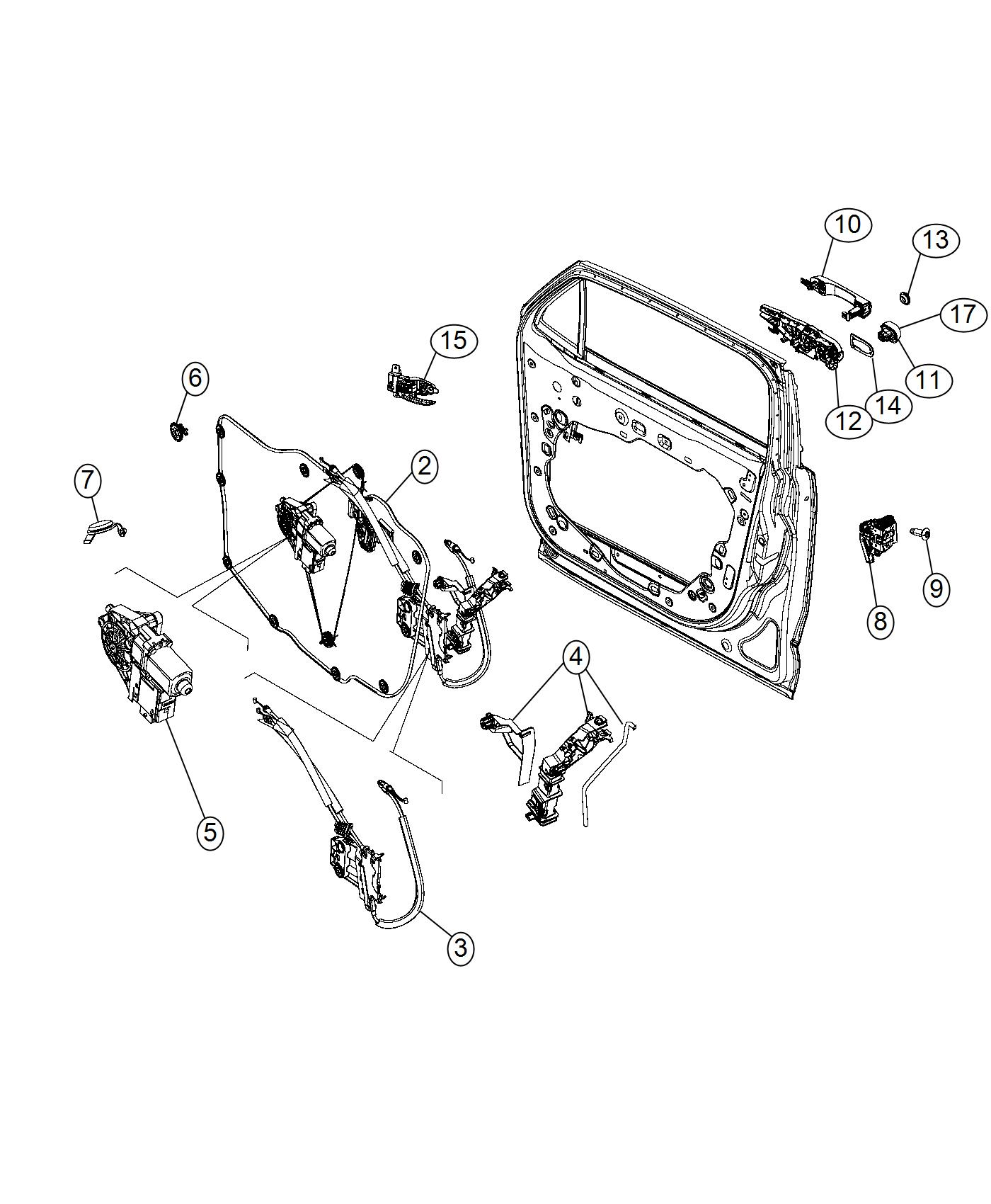 2017 Jeep Renegade Bushing. Isolator. Export. Door