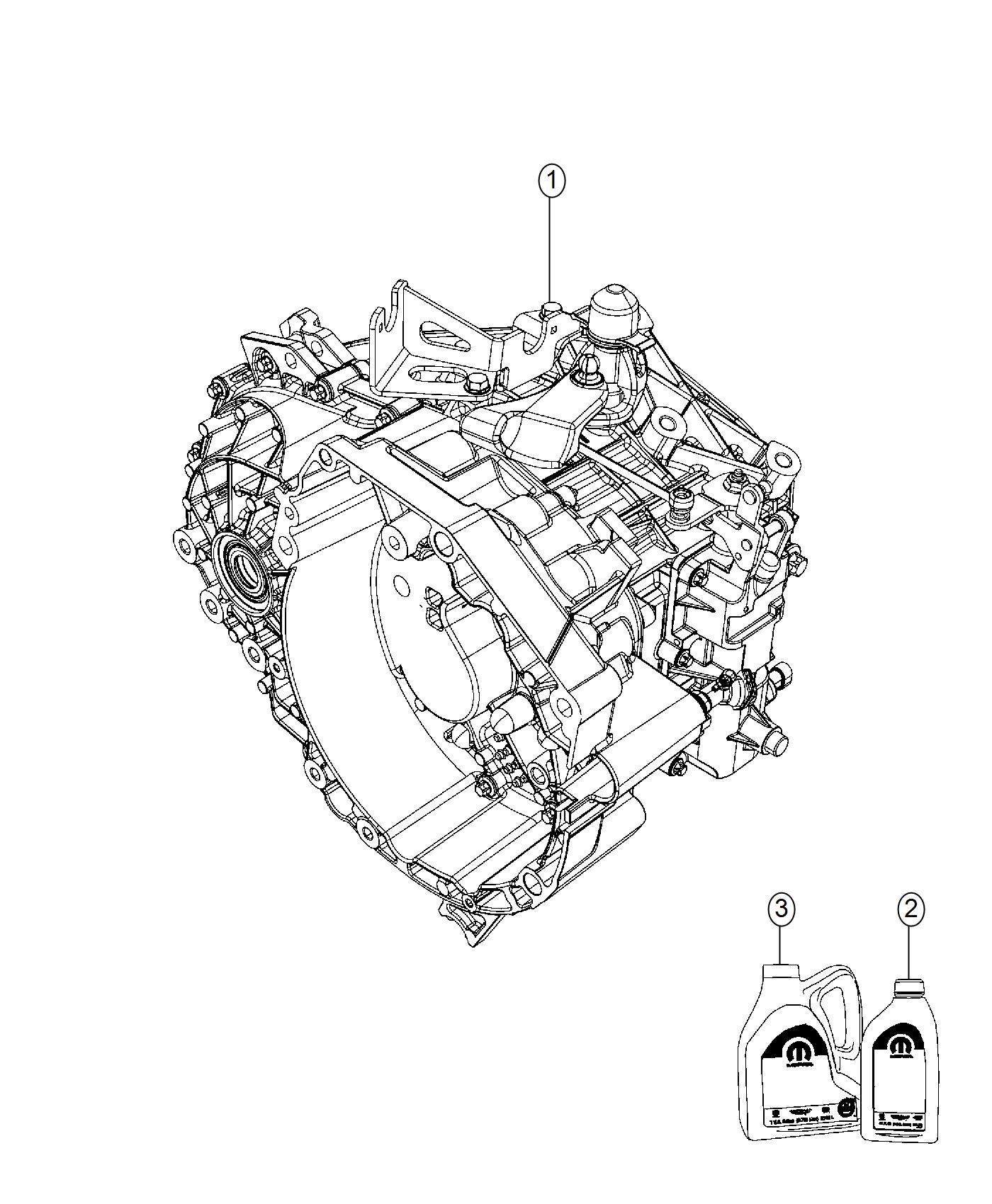 Jeep Renegade Transmission. 6 speed. Transaxle