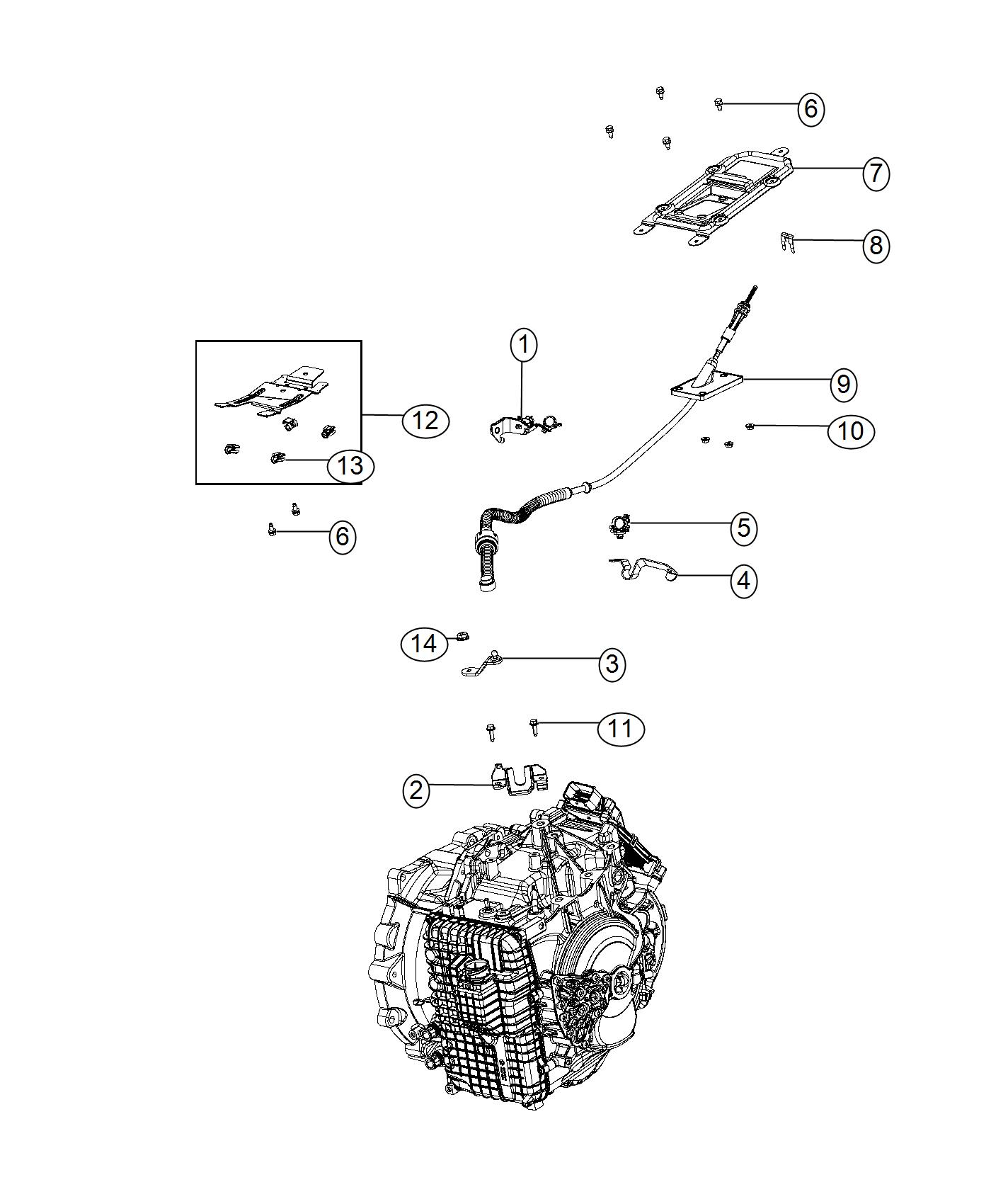 2017 Jeep Renegade Bracket. Shift cable. Export
