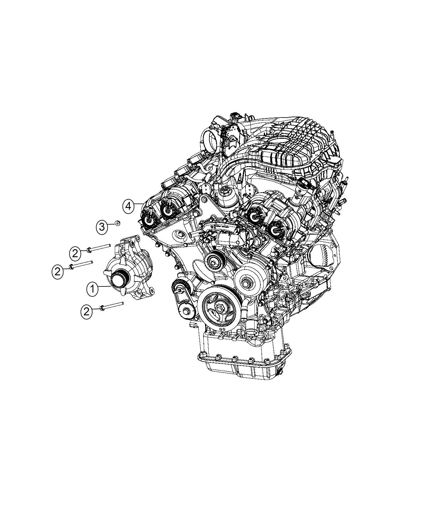 Chrysler 300 Generator. Engine. Remanufactured. Alternator