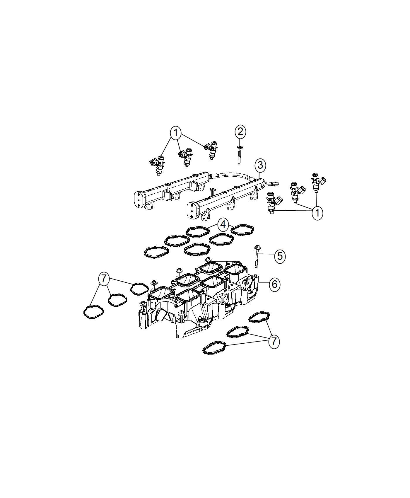 Chrysler Pacifica Seal Plenum Engine Intake Install