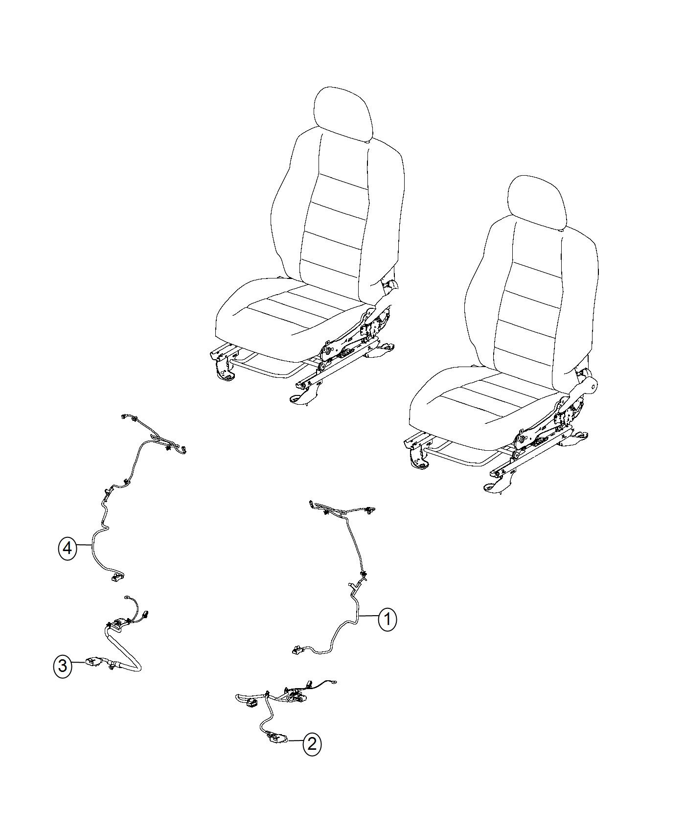 Jeep Compass Wiring Seat Cushion Side Air Bag Passenger