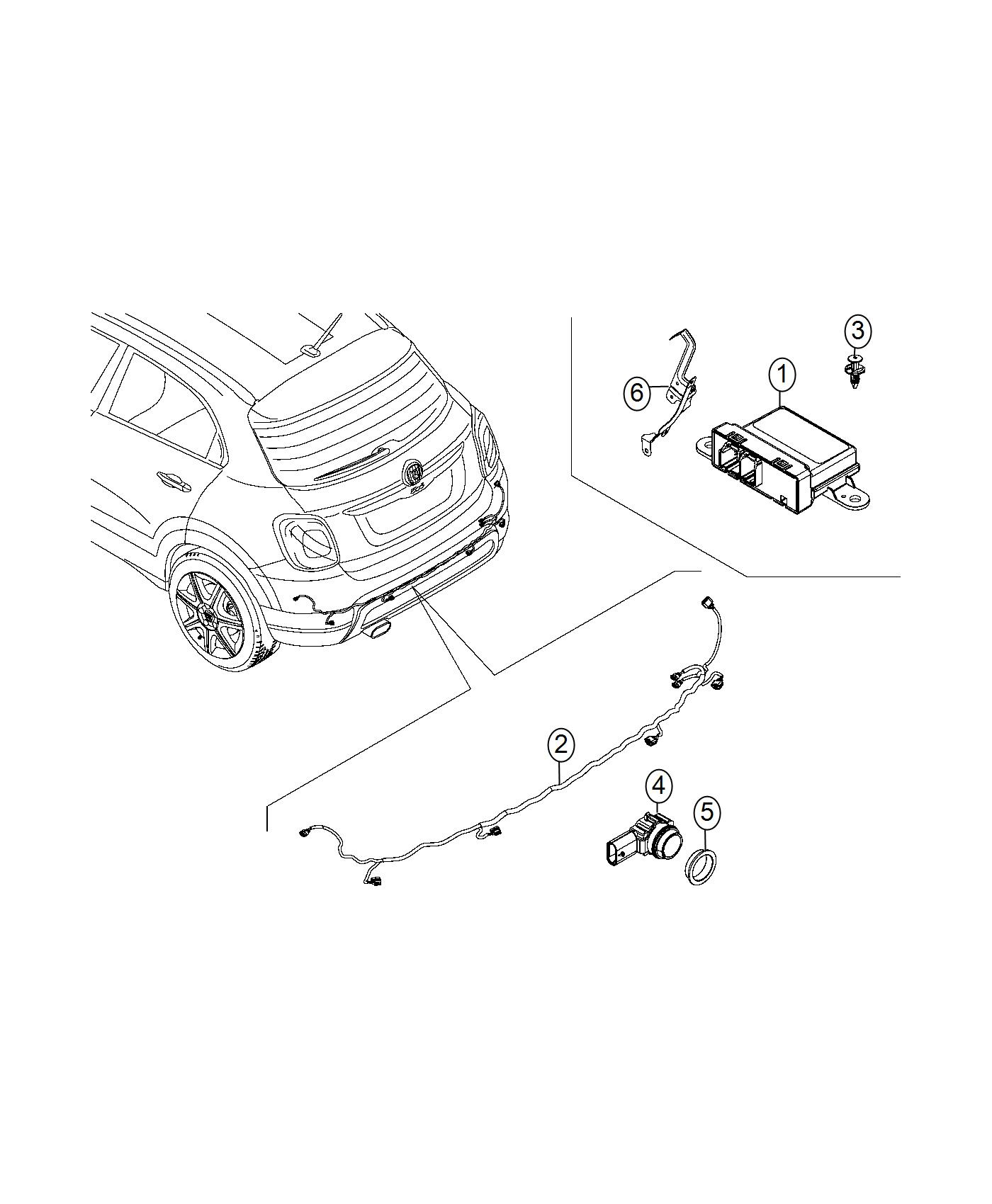Dodge Ram 2500 Sensor. Park assist. Export, inner, mexico