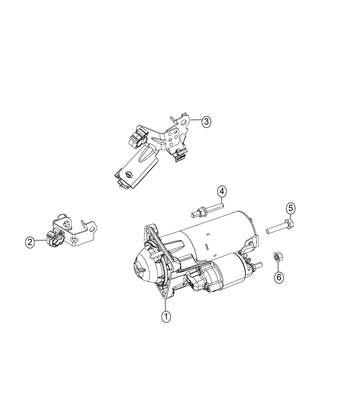 2017 Jeep Compass Starter. Engine. [power train parts