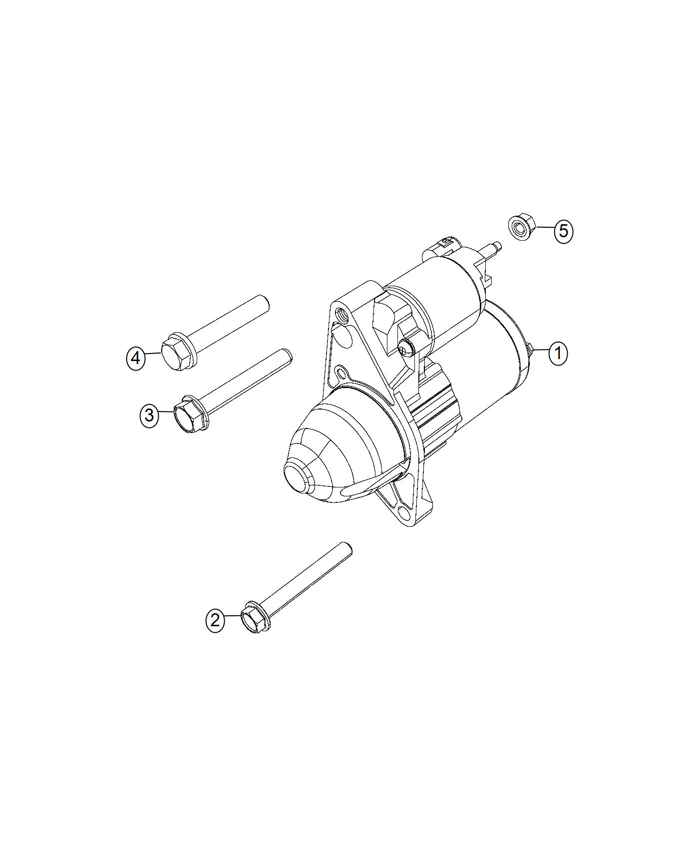 Jeep Compass Starter Engine Power Train Parts