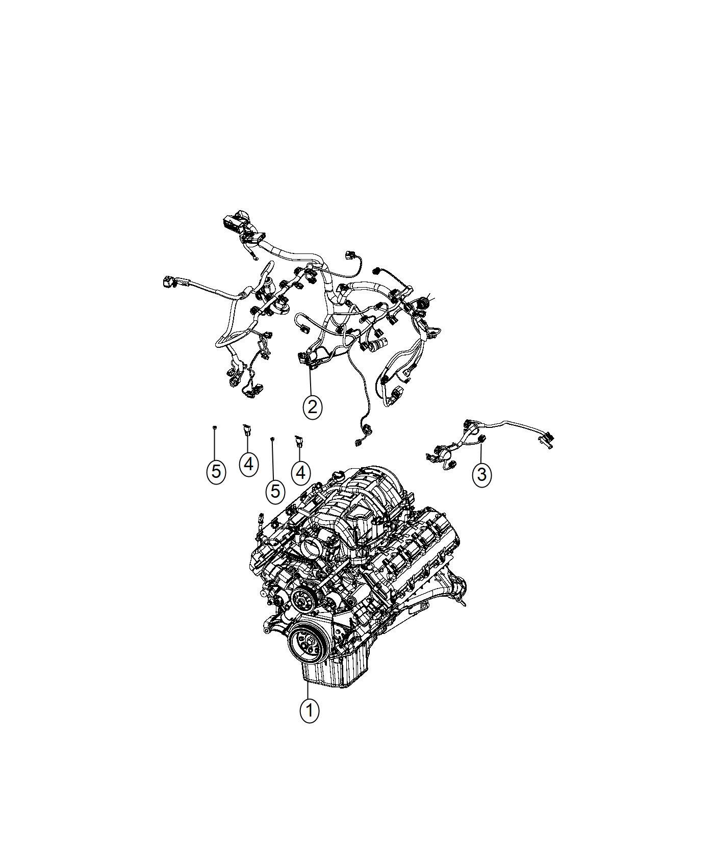 Dodge Challenger Wiring Engine Powertrain Oil Mopar