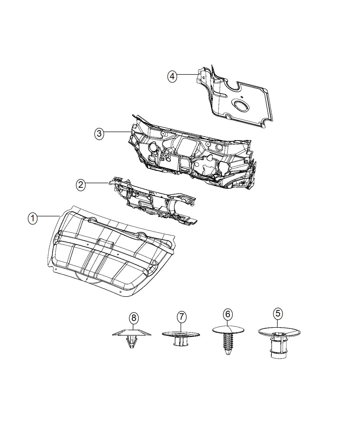Dodge Dart Silencer Dash Panel Engine Compartment