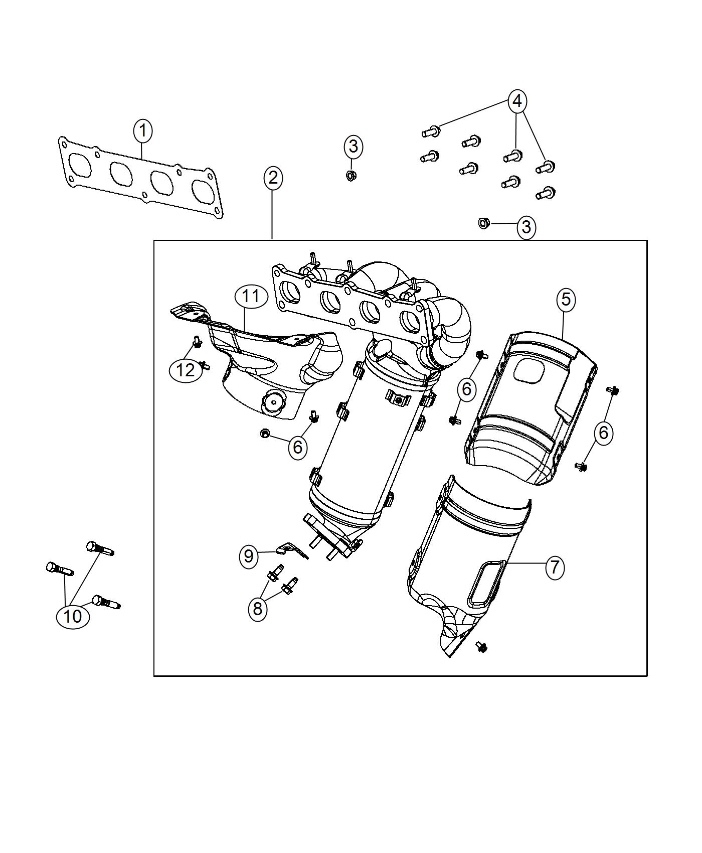 Jeep Compass Manifold. Exhaust, used for: exhaust and
