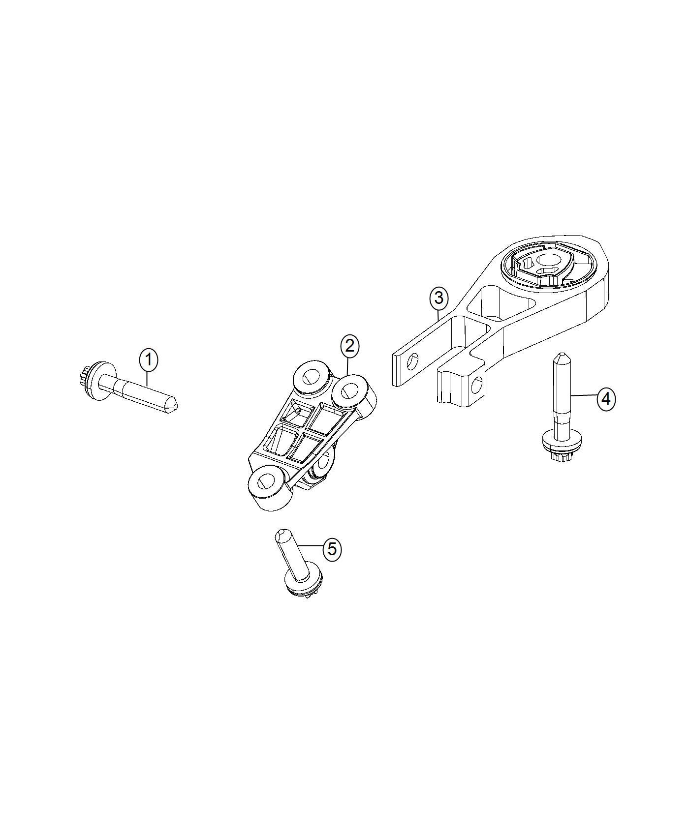 Jeep Compass Isolator. Transmission mount. Awd, auto, fwd
