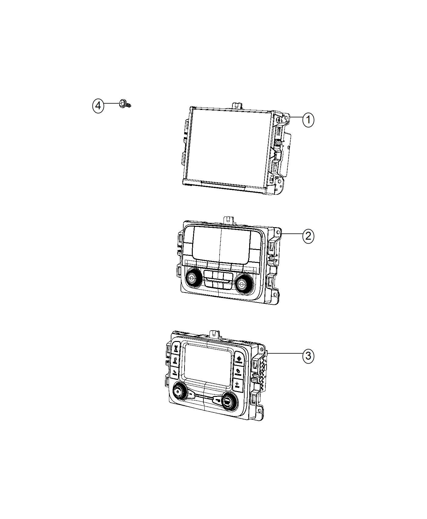 Jeep Renegade Radio. Multi media. [instrument panel parts