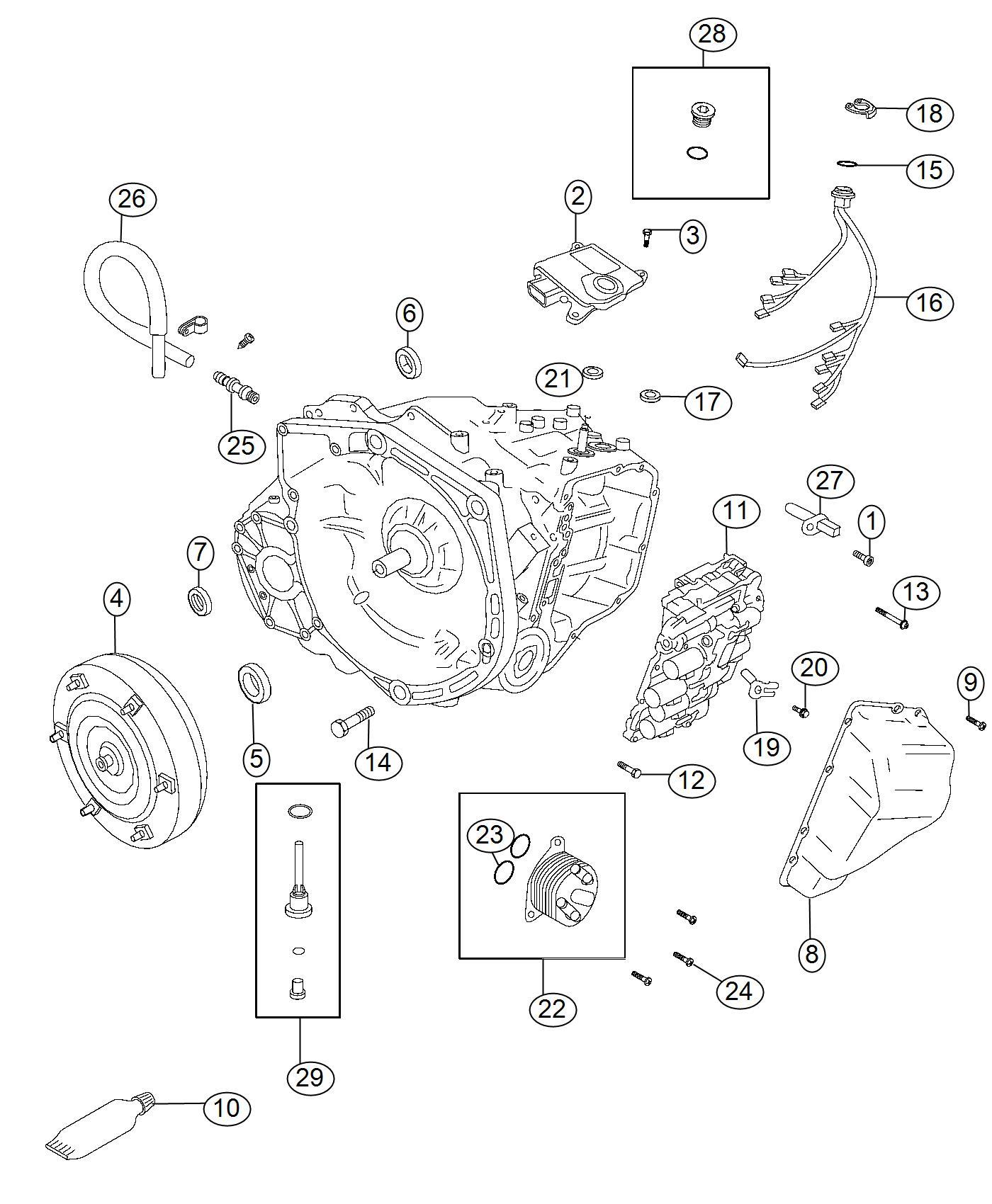 Jeep Compass Cooler. Transmission oil. [power train parts