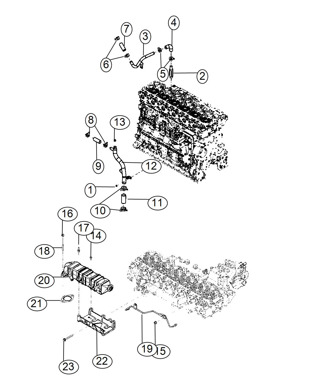 Dodge Ram Hose Coolant Federal Emissions 50