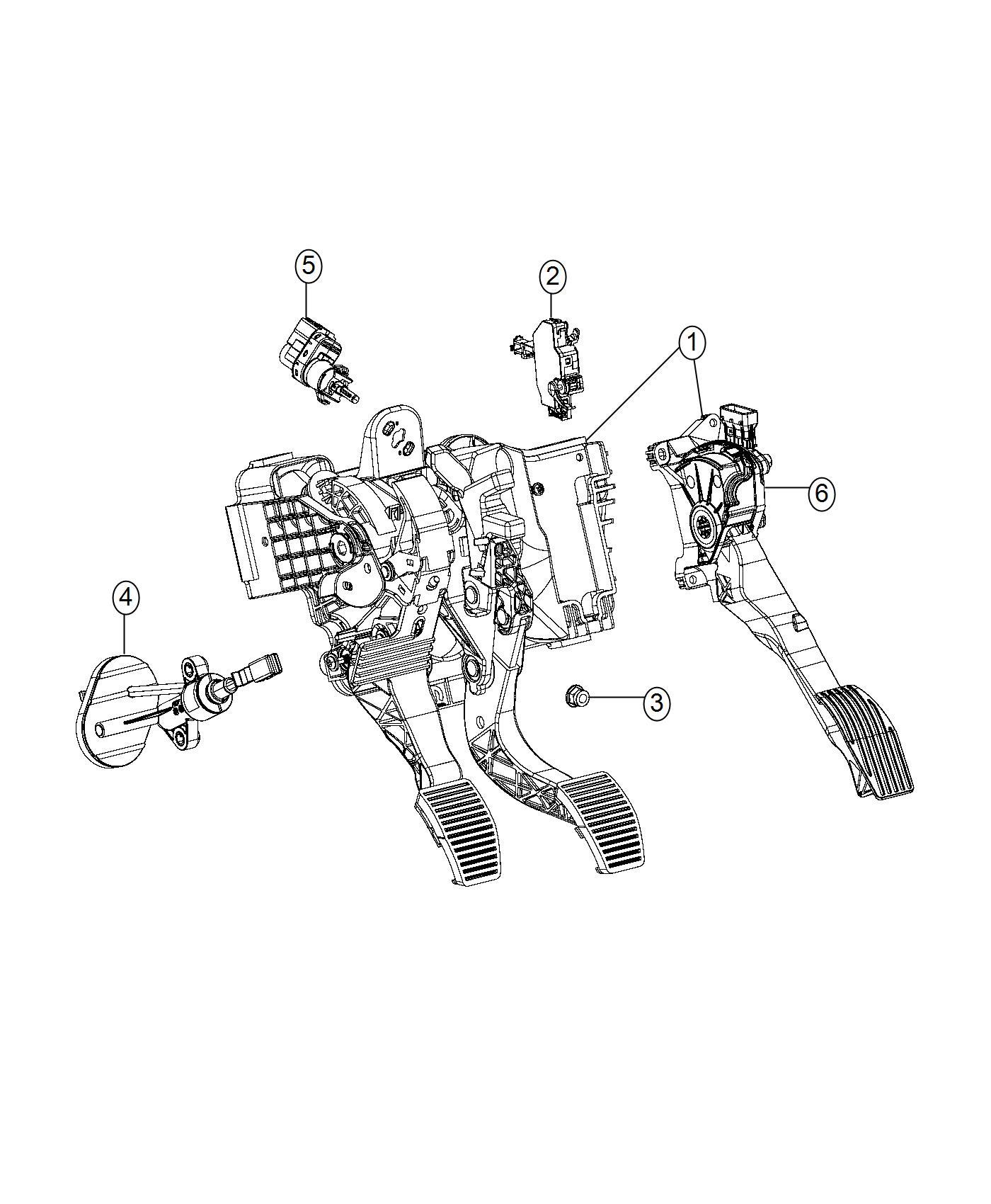 Jeep Compass Switch. Clutch starter interlock. Export, us