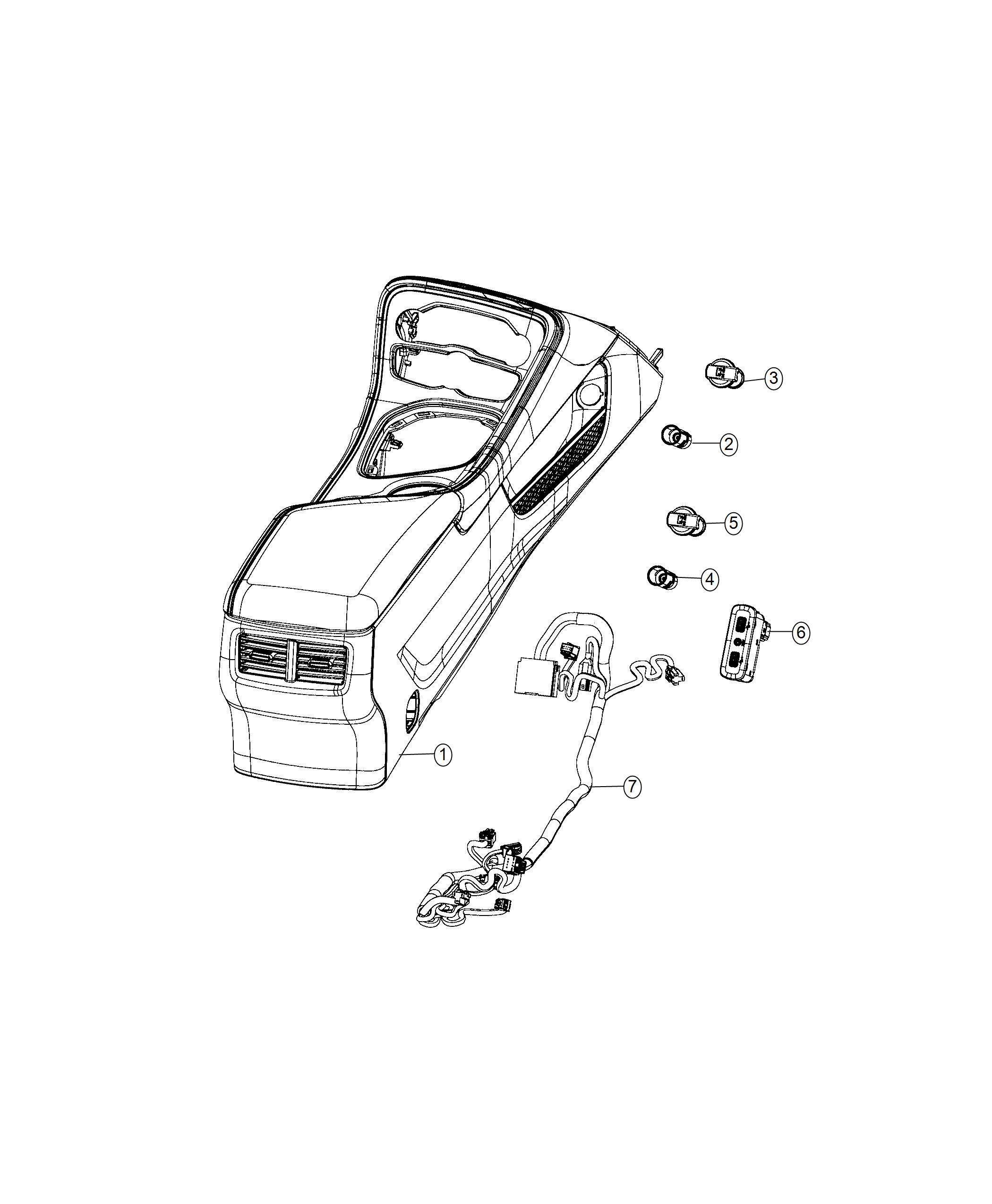 Dodge Challenger Wiring. Jumper. Console. Instrument