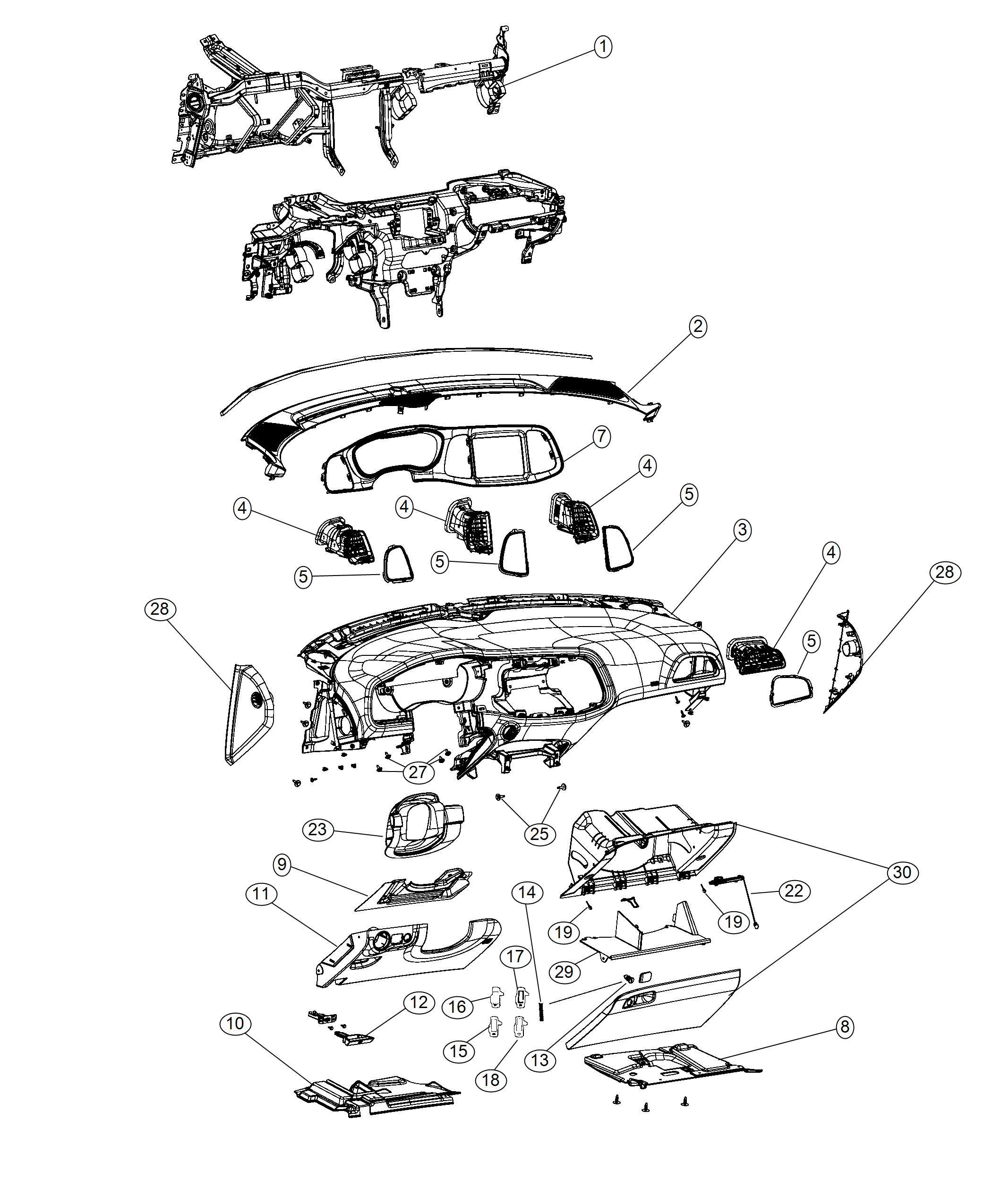 Dodge Challenger Bezel. Instrument cluster. Trim: [no