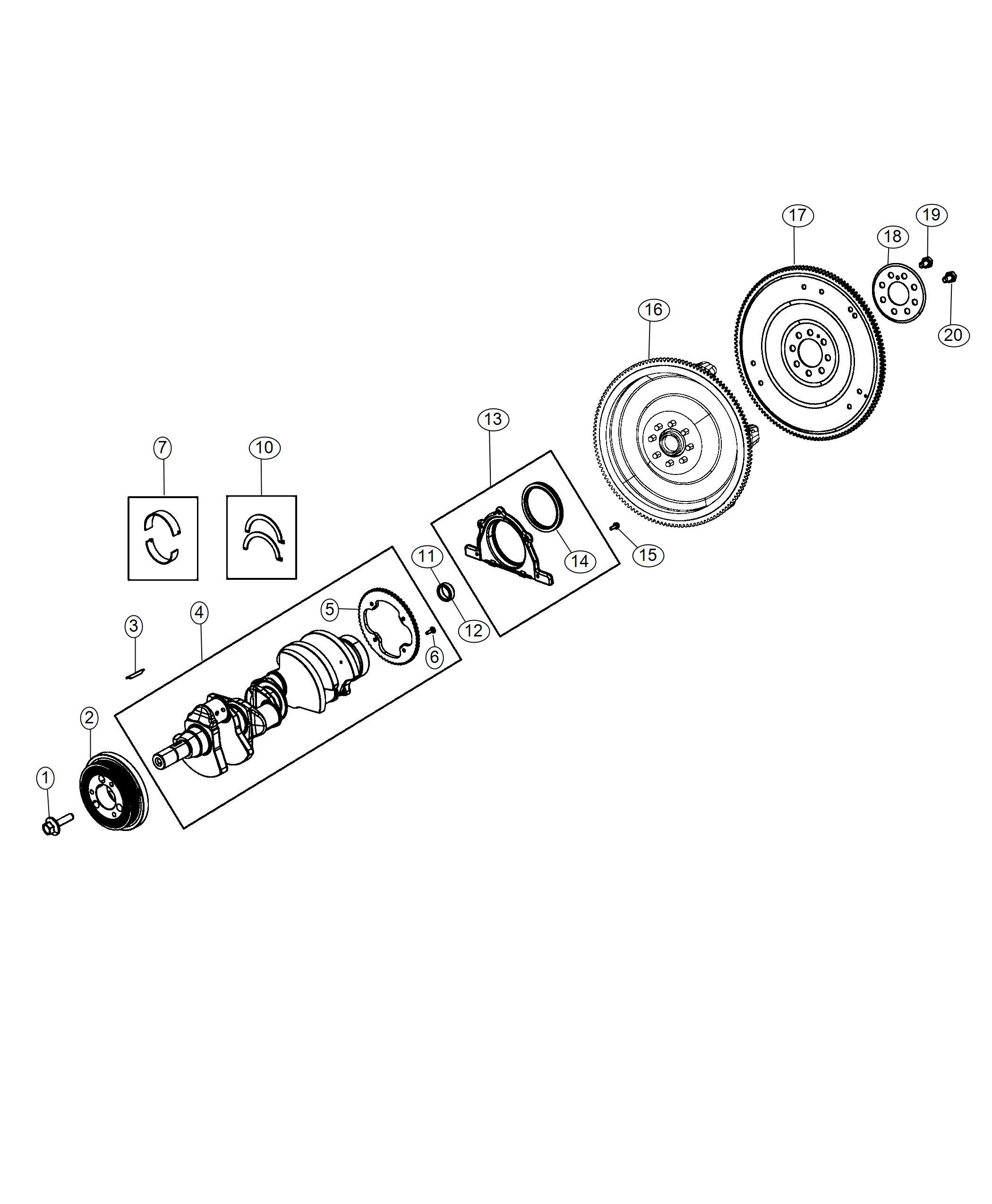 Dodge Challenger Crankshaft Engine