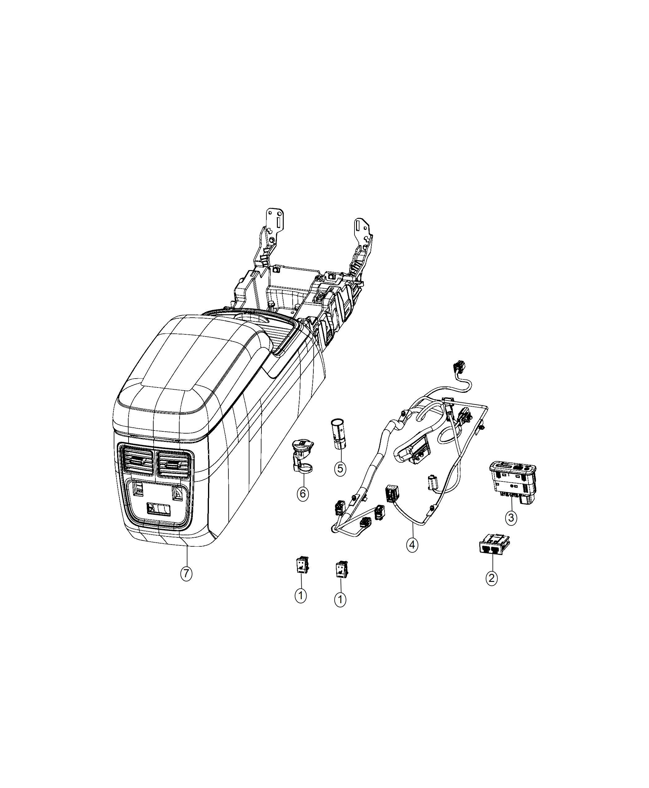 Dodge Charger Wiring. Console. Trim: [no description