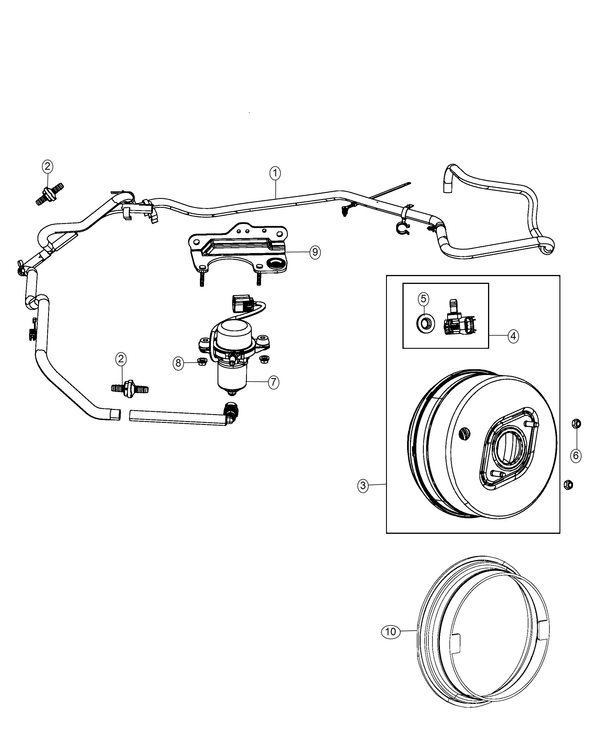 2018 Jeep Grand Cherokee Booster. Power brake. Maintenance
