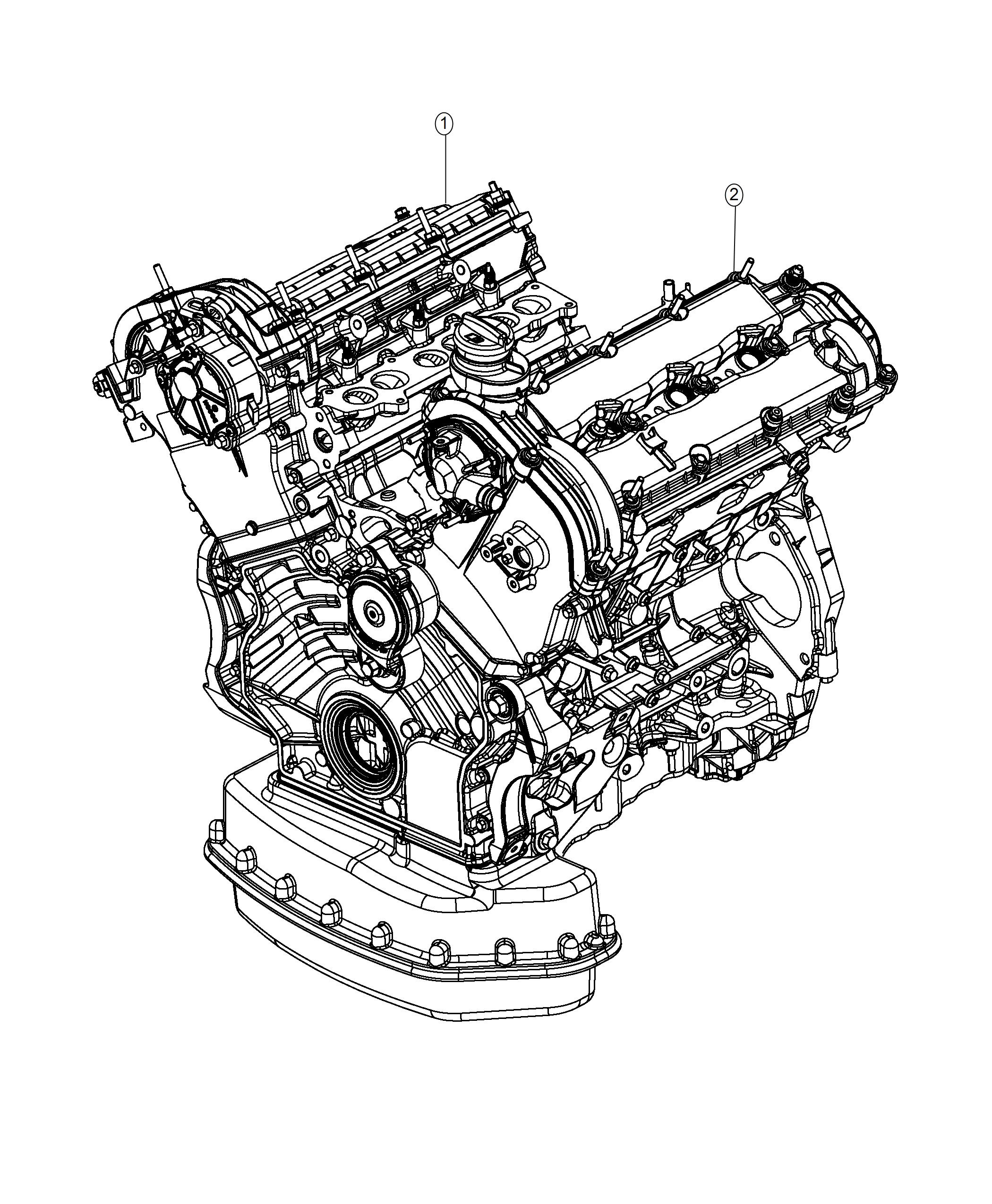 Jeep Grand Cherokee Engine Long Block Emission