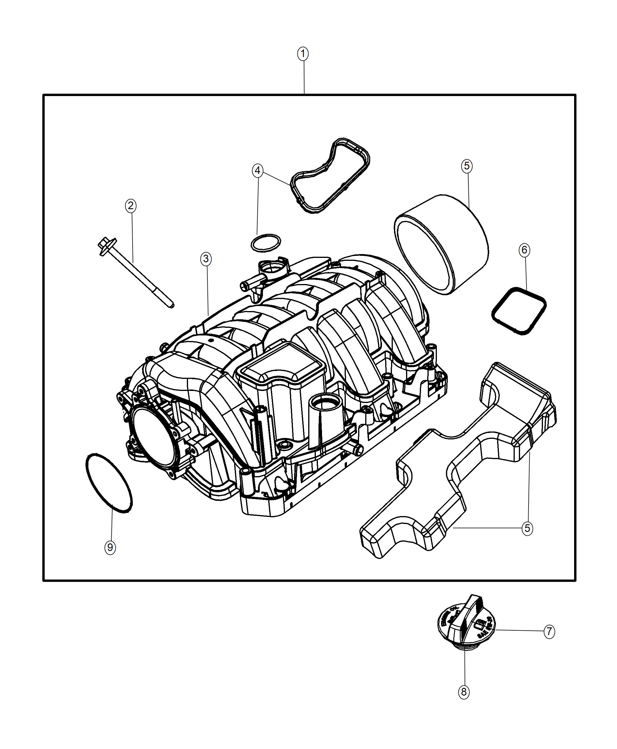 Jeep Grand Cherokee Manifold kit. Engine intake. Mds, ezh