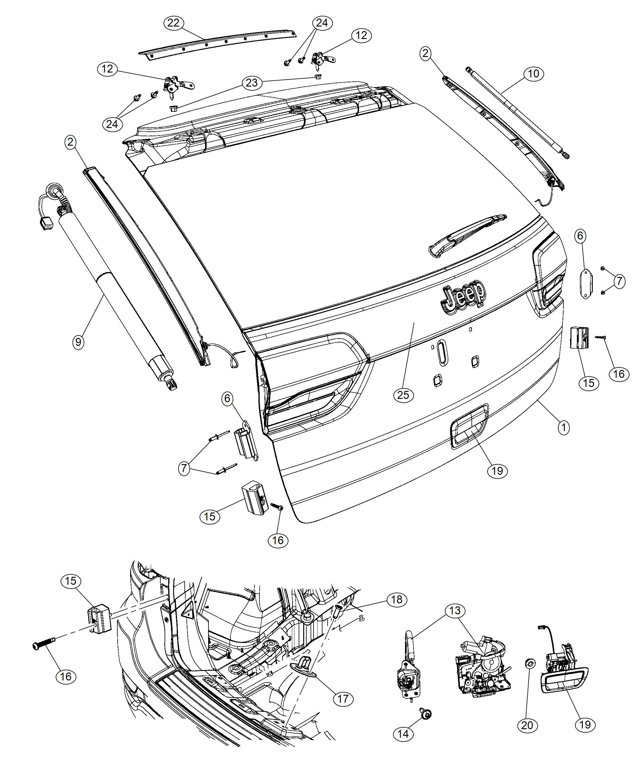 Jeep Grand Cherokee Shield. Lock cylinder. [thatcham
