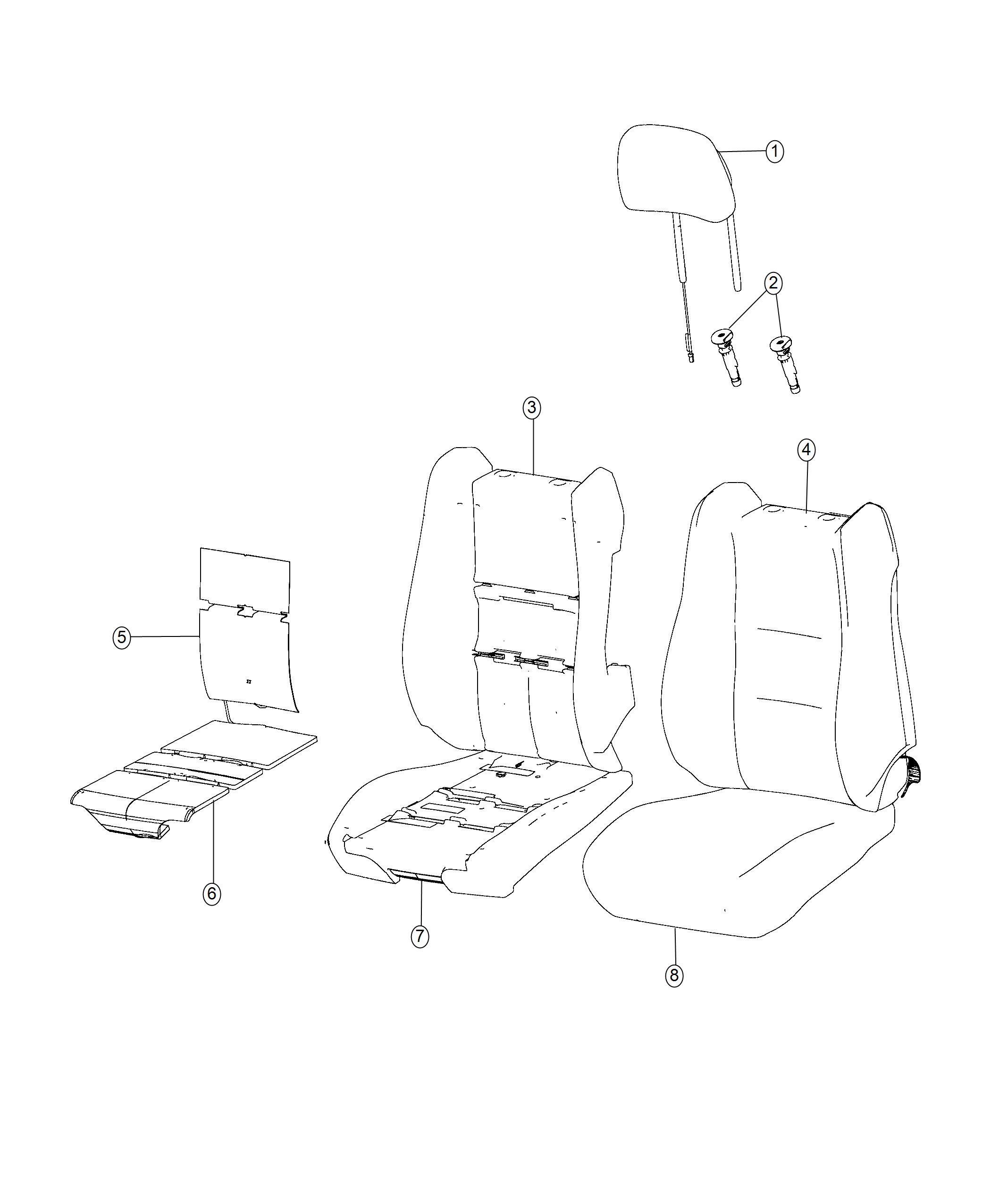 Jeep Grand Cherokee Cover. Front seat back. Left, right
