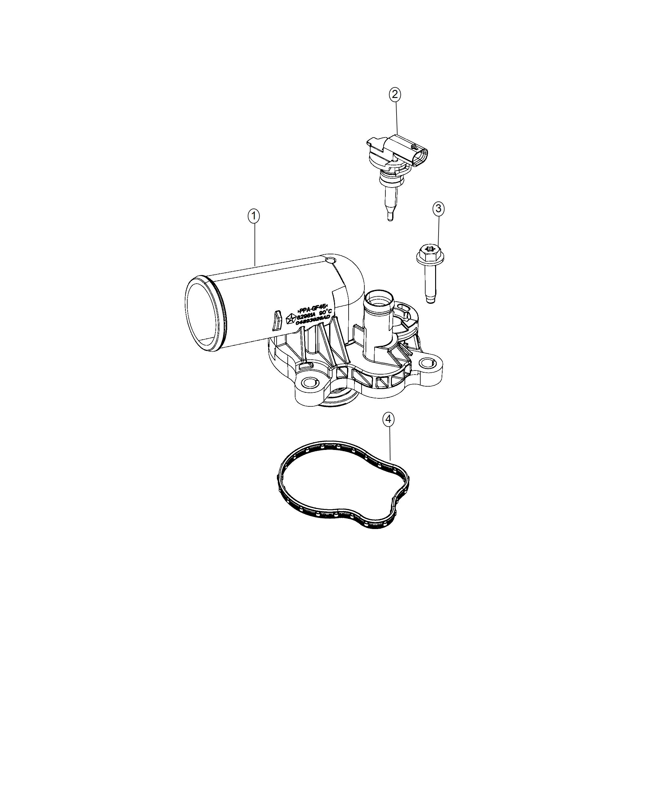 Dodge Durango Housing Thermostat Incl S Thermostat