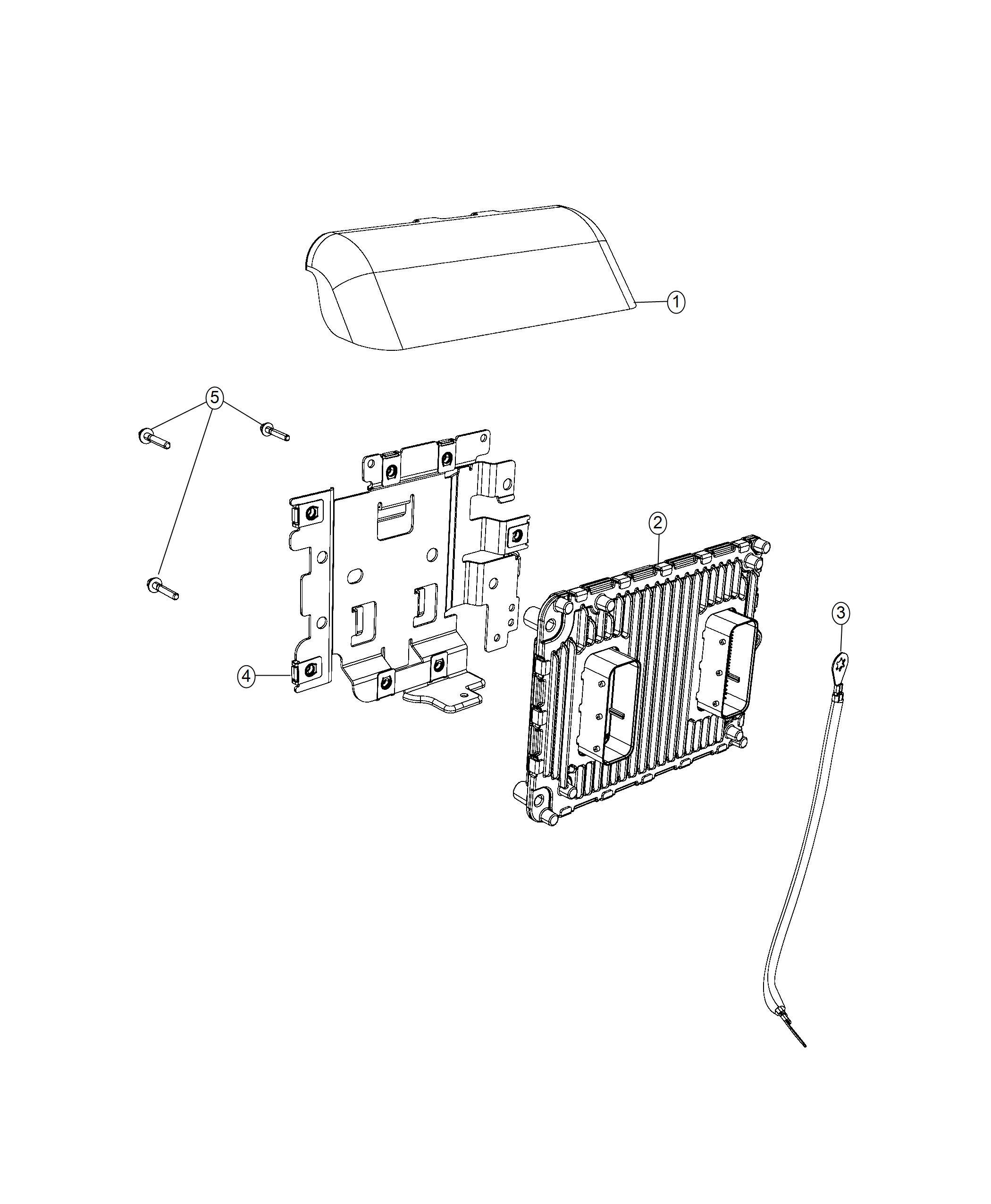 Dodge Durango Bracket Engine Control Module