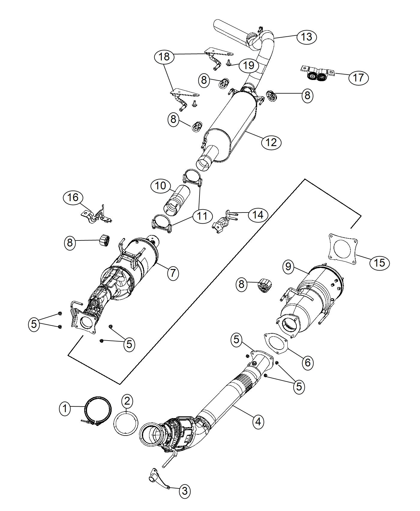 Dodge Ram Bracket Exhaust System State