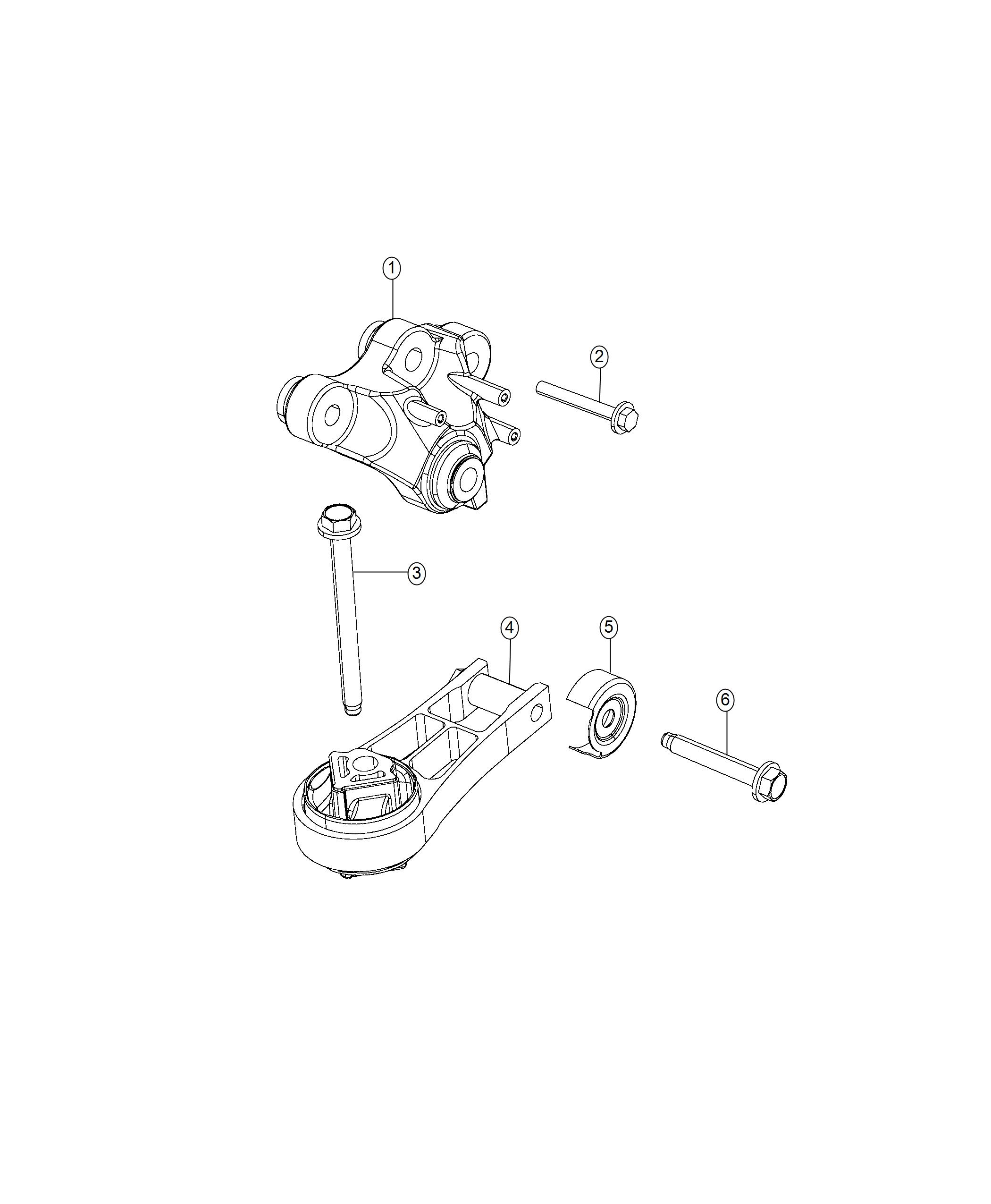 Chrysler Pacifica Isolator Engine Torque Strut Mounting