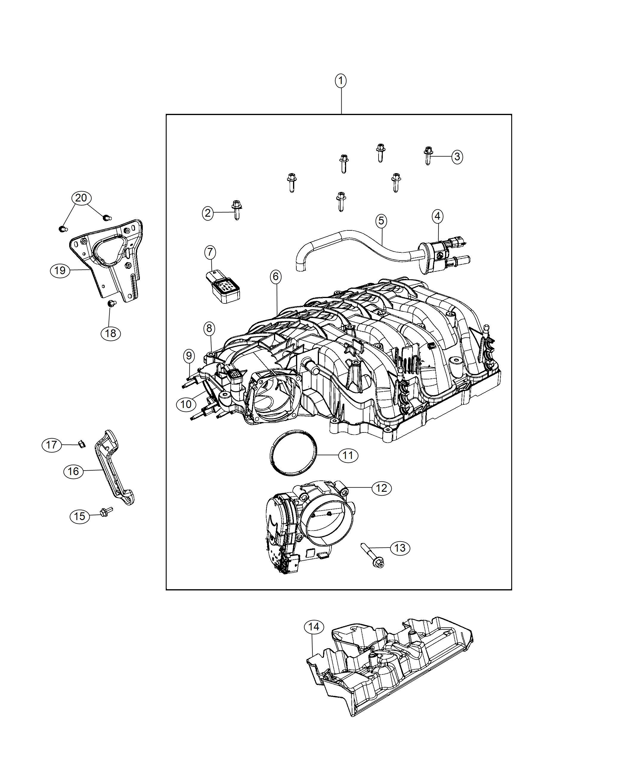 Chrysler Pacifica Sensor. Map. Engine, manifold, intake