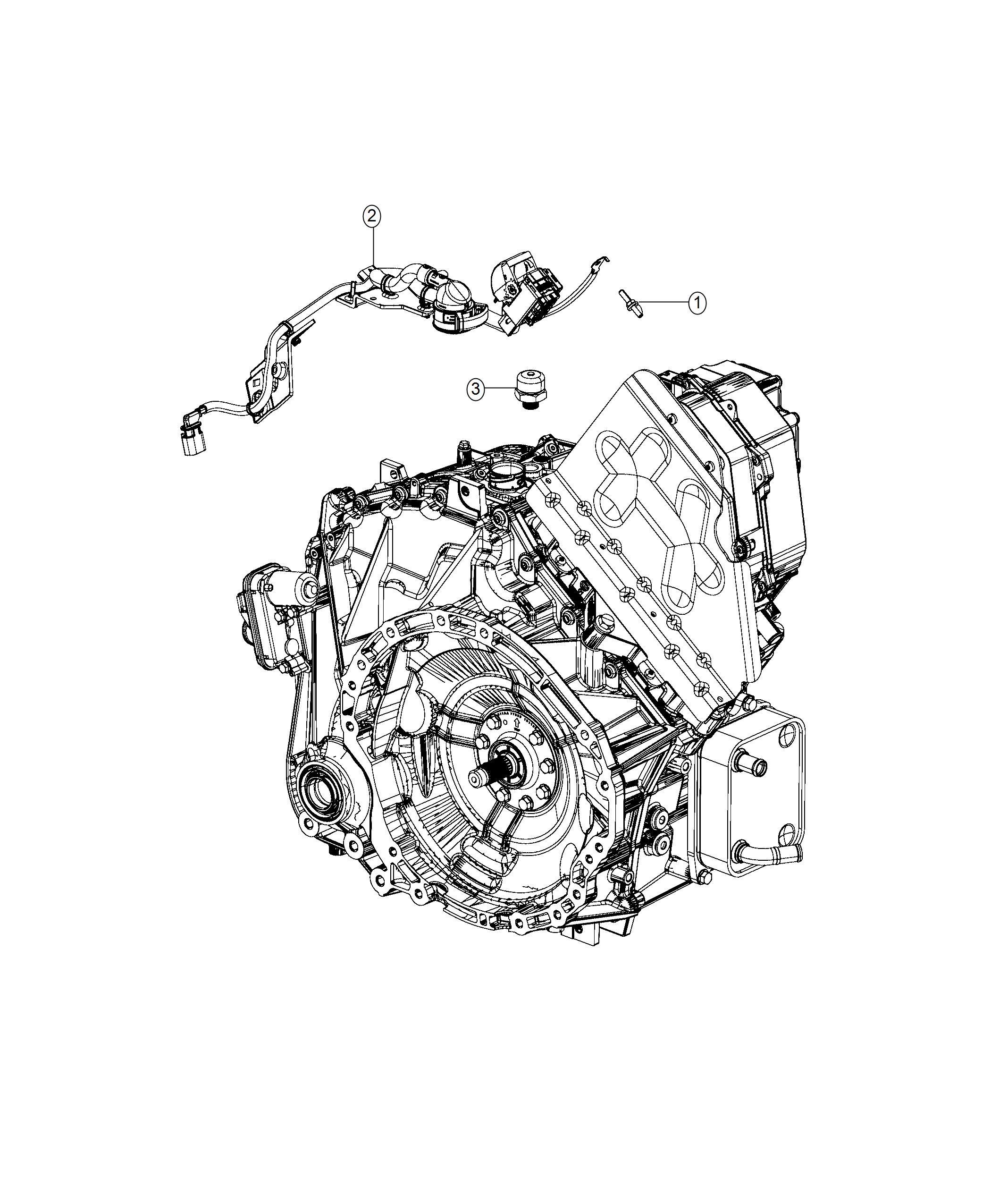 2017 Chrysler PACIFICA L HYBRID Wiring. Transmission