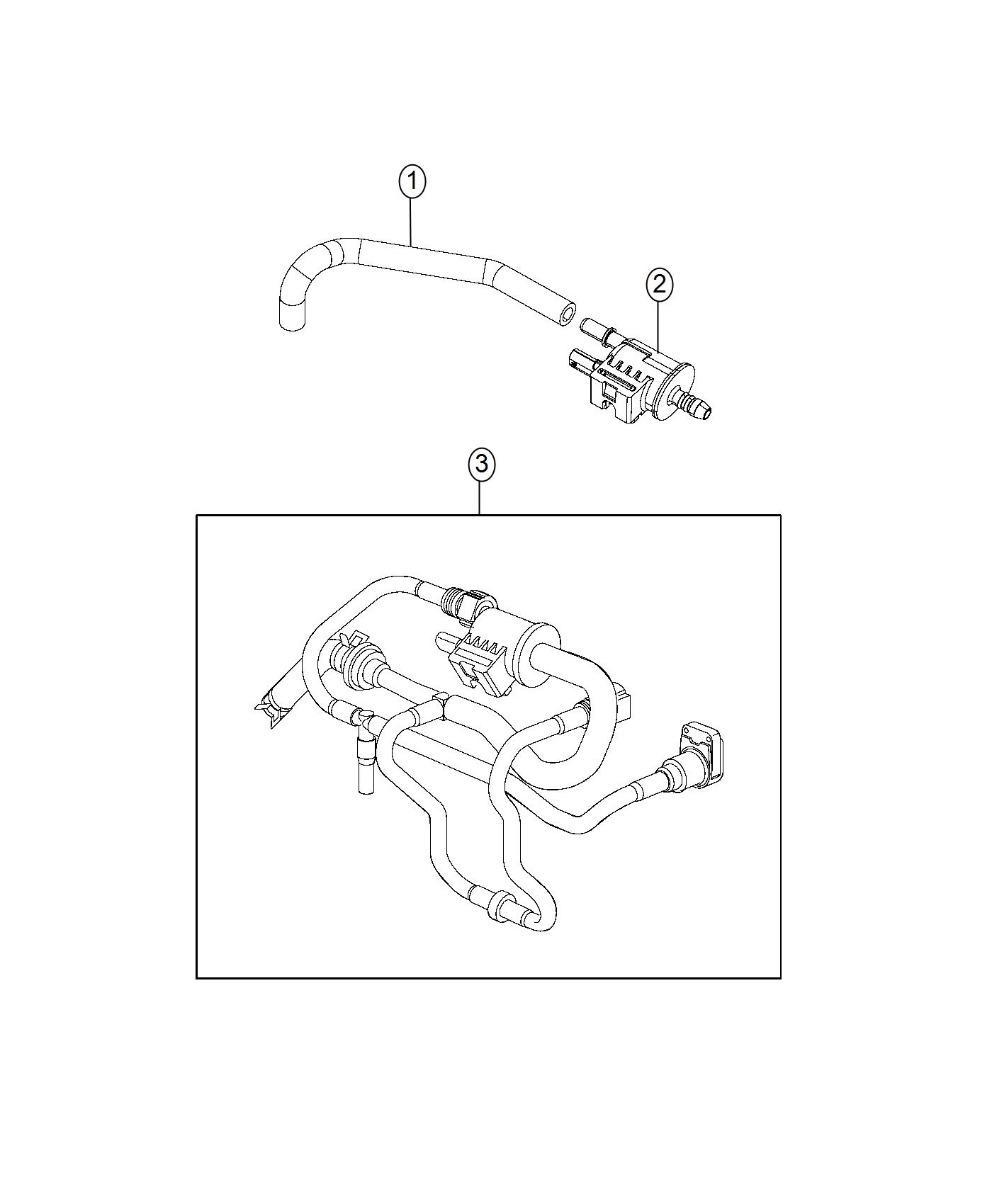 Jeep Compass Valve. Purge control. Export. Engine