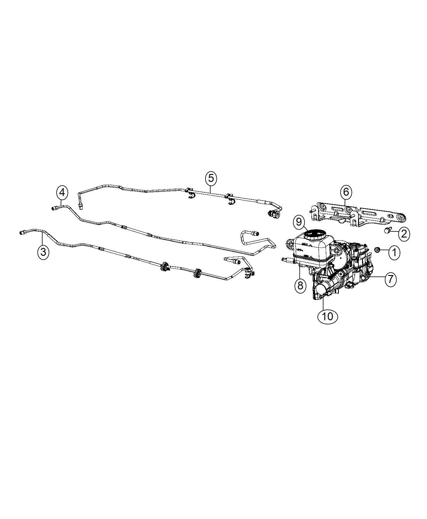 2017 Chrysler Pacifica Reservoir. Brake master cylinder