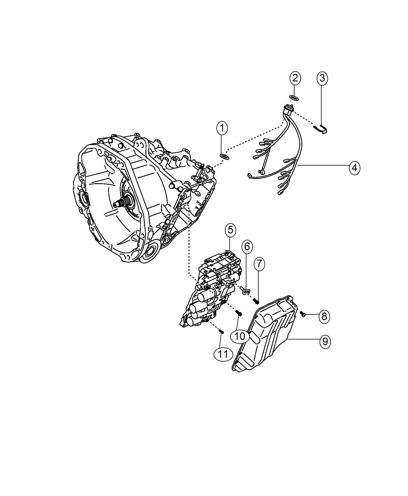 2017 Jeep Renegade Pan. Transmission oil. [stop-start