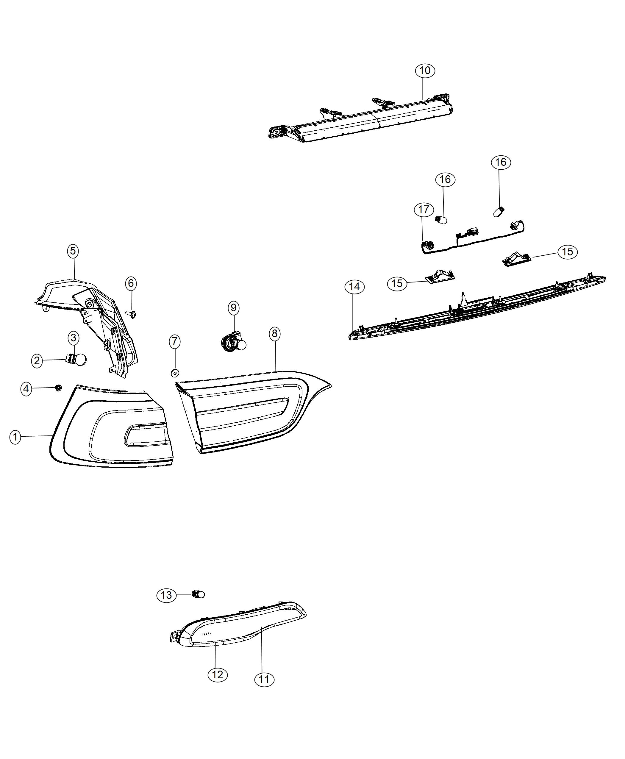 Jeep Cherokee Lamp. Tail. Left. Export. [led tail lamps