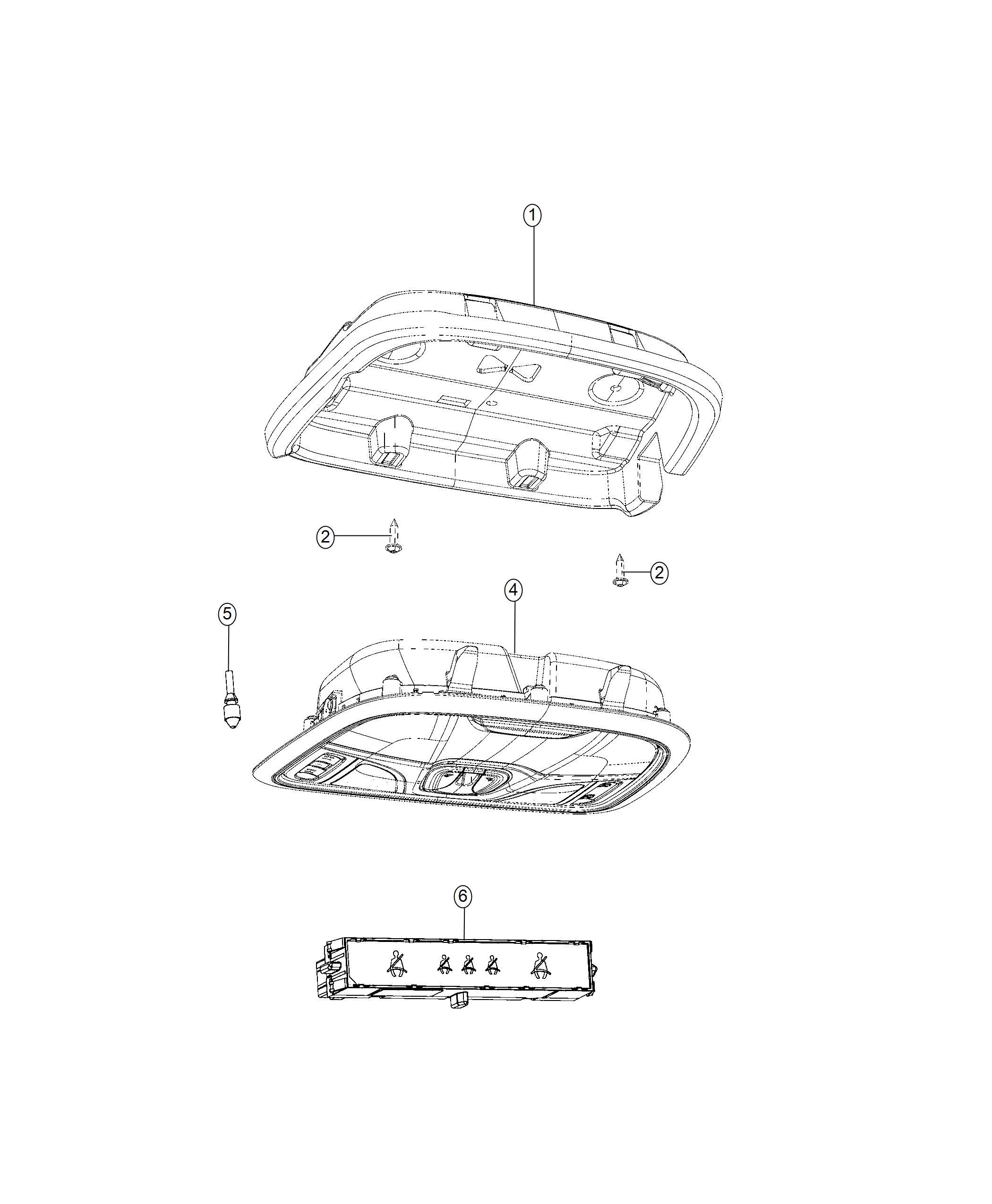 Jeep Cherokee Retainer. Overhead console. Visors