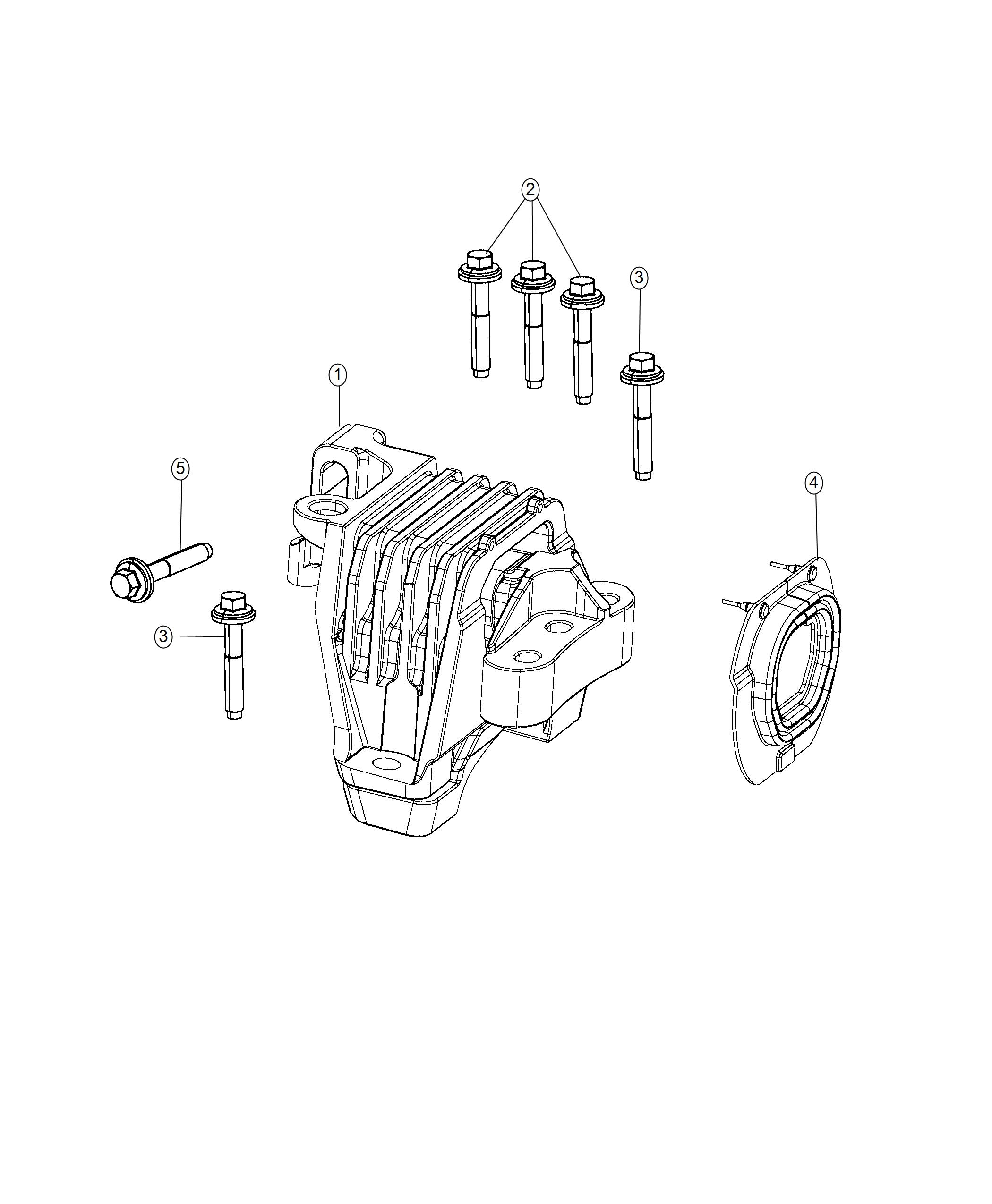 Jeep Cherokee Insulator Engine Mounting Side