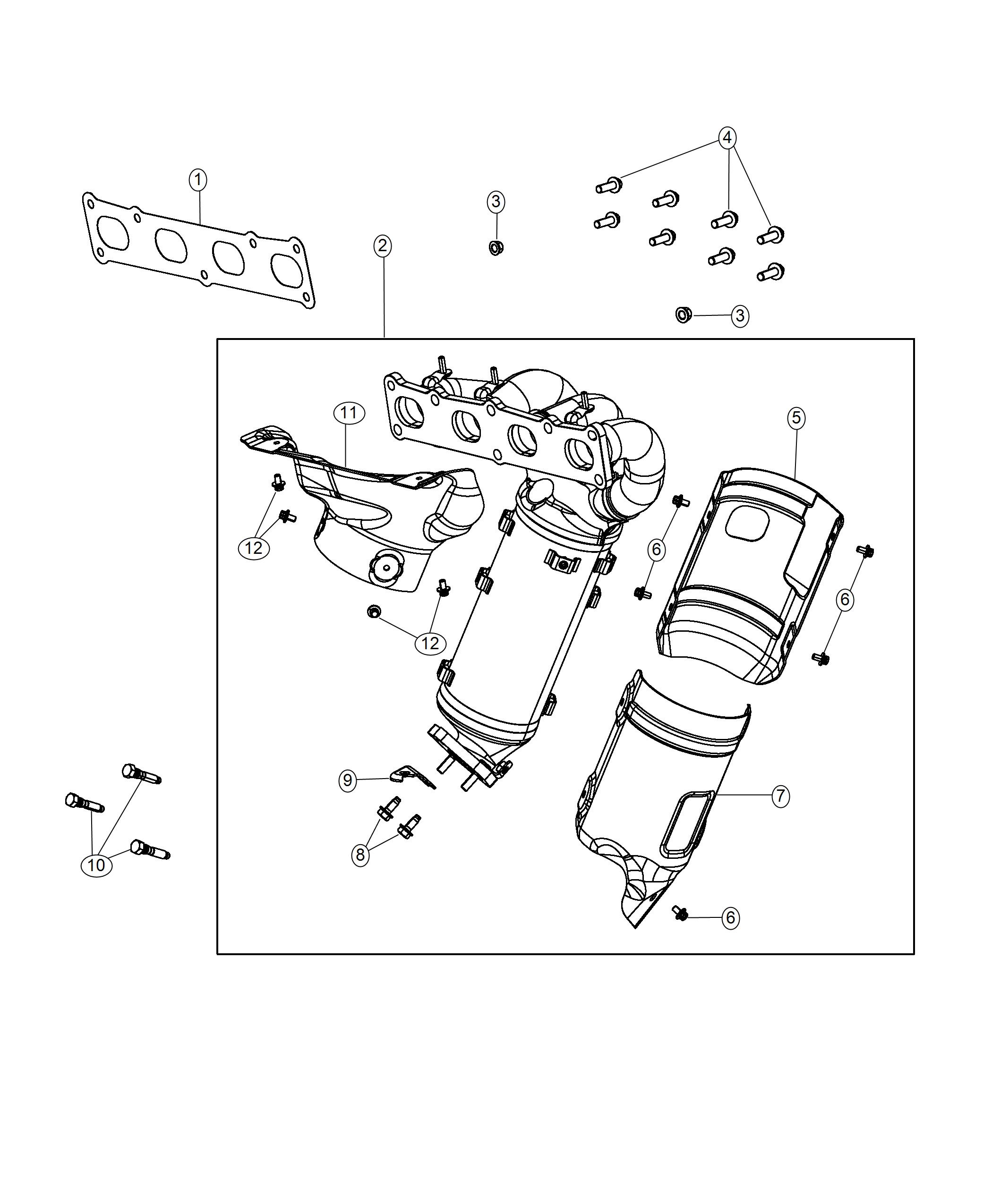 Jeep Cherokee Bracket Catalytic Converter Exhaust