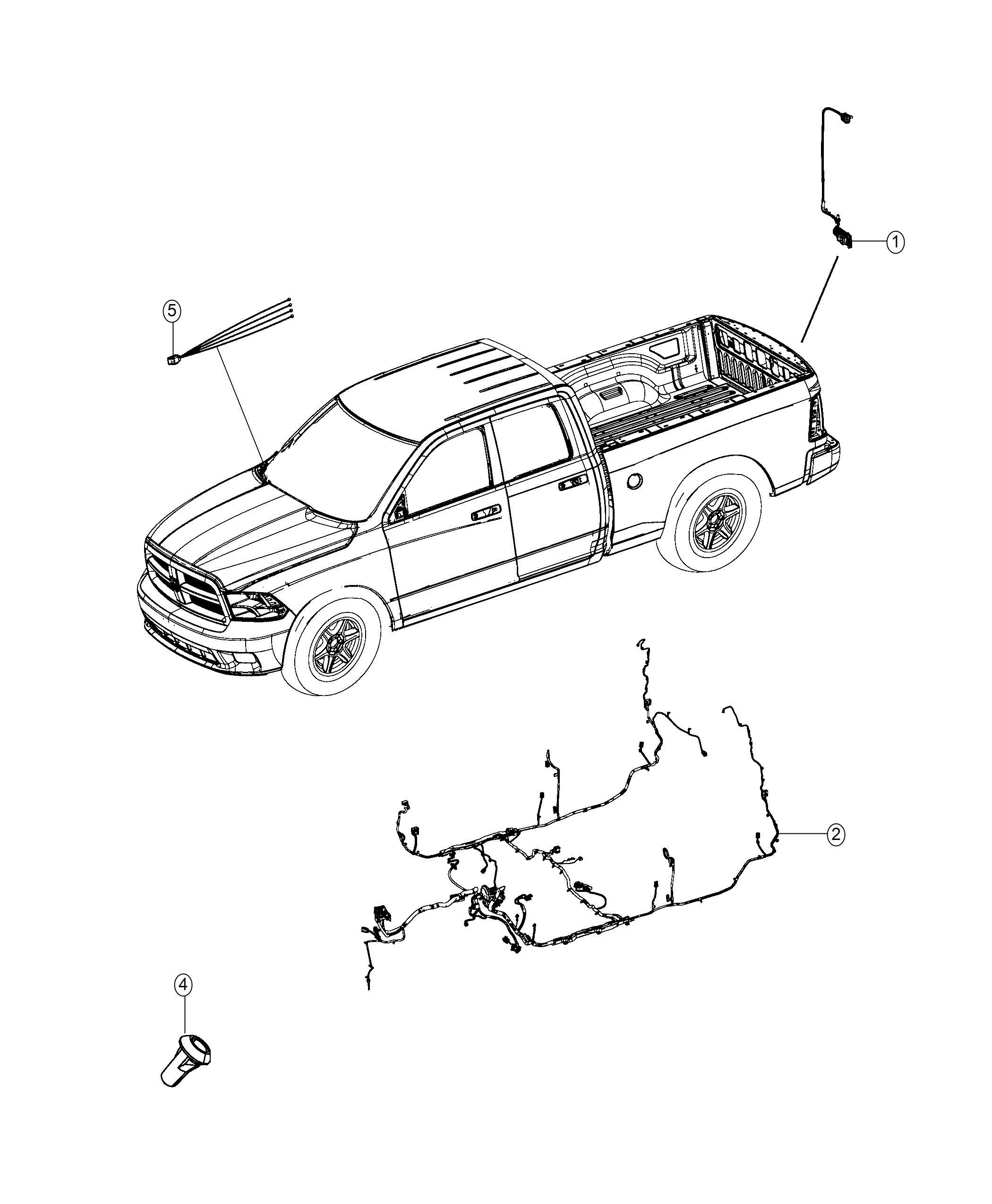Ram 5500 Wiring. Jumper. Camera. Rear, back, parkview