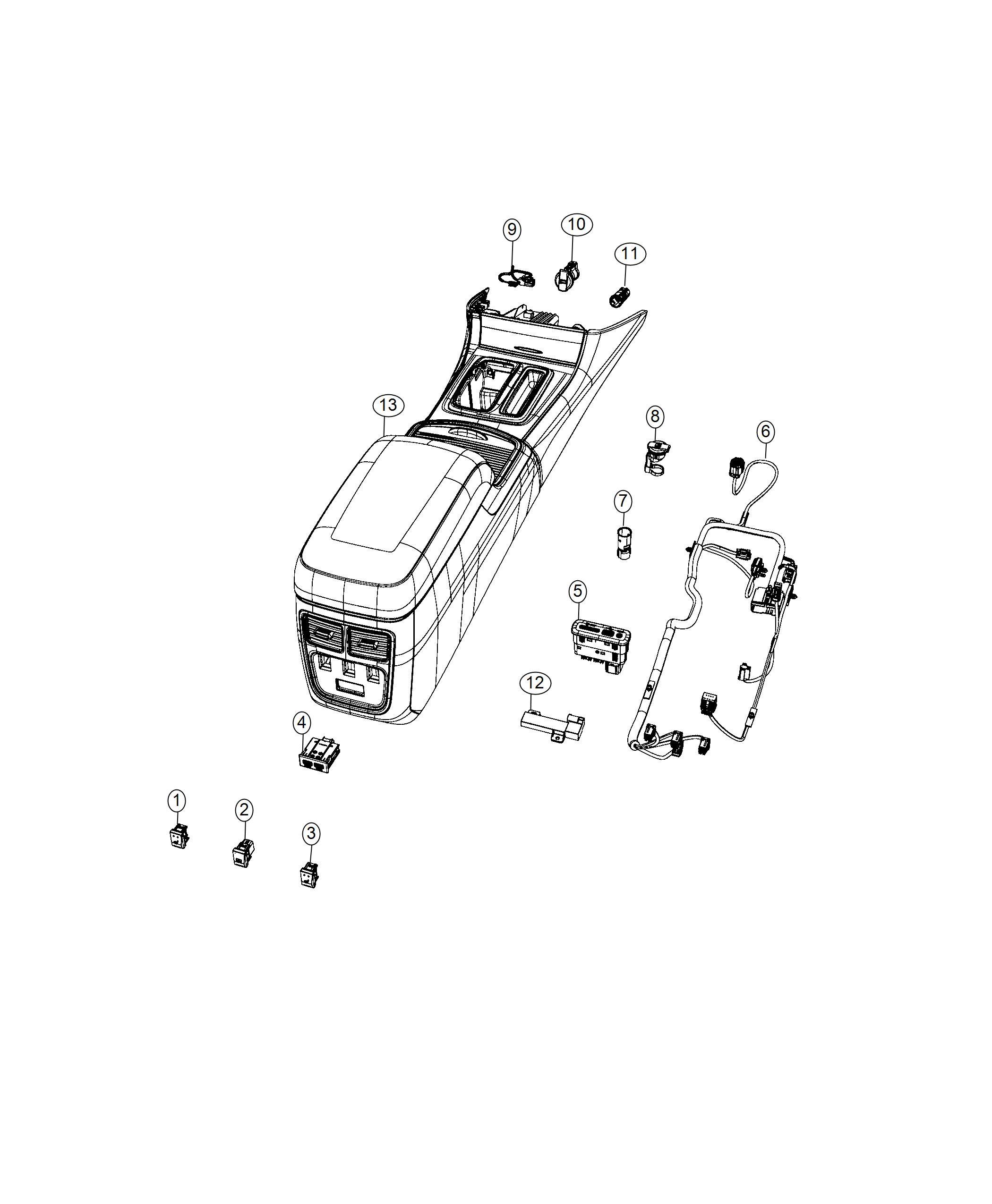 Chrysler 300 Cap Power Outlet Trim No Description Available
