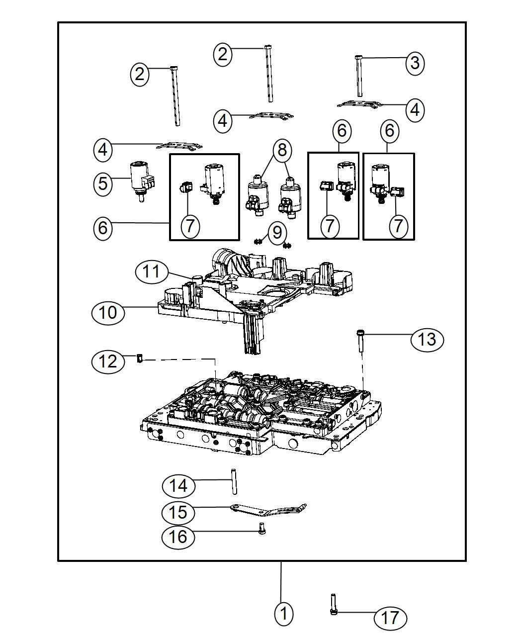 Dodge Challenger Valve body. Complete. Module, control
